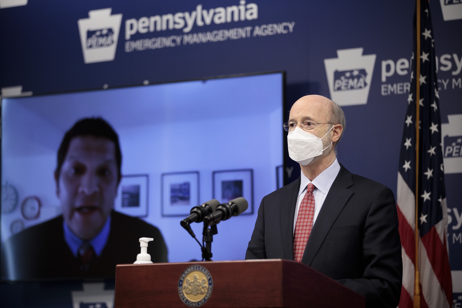 "<a href=""https://filesource.wostreaming.net/commonwealthofpa/photo/18535_gov_nellie_bly_dz_13.jpg"" target=""_blank"">⇣ Download Photo<br></a>Pennsylvania Governor Tom Wolf watches as Secretary Noe Ortega, PDE speaks remotely at the press conference.     Governor Tom Wolf wants to bet on 44,000 students to help them earn a college degree while graduating with less debt and building successful lives in Pennsylvania. Today, the governor held a press conference to discuss how his historic Nellie Bly Scholarship Program would provide need-based financial assistance for students at 14 universities in the states system. Harrisburg, PA  February 17, 2021"