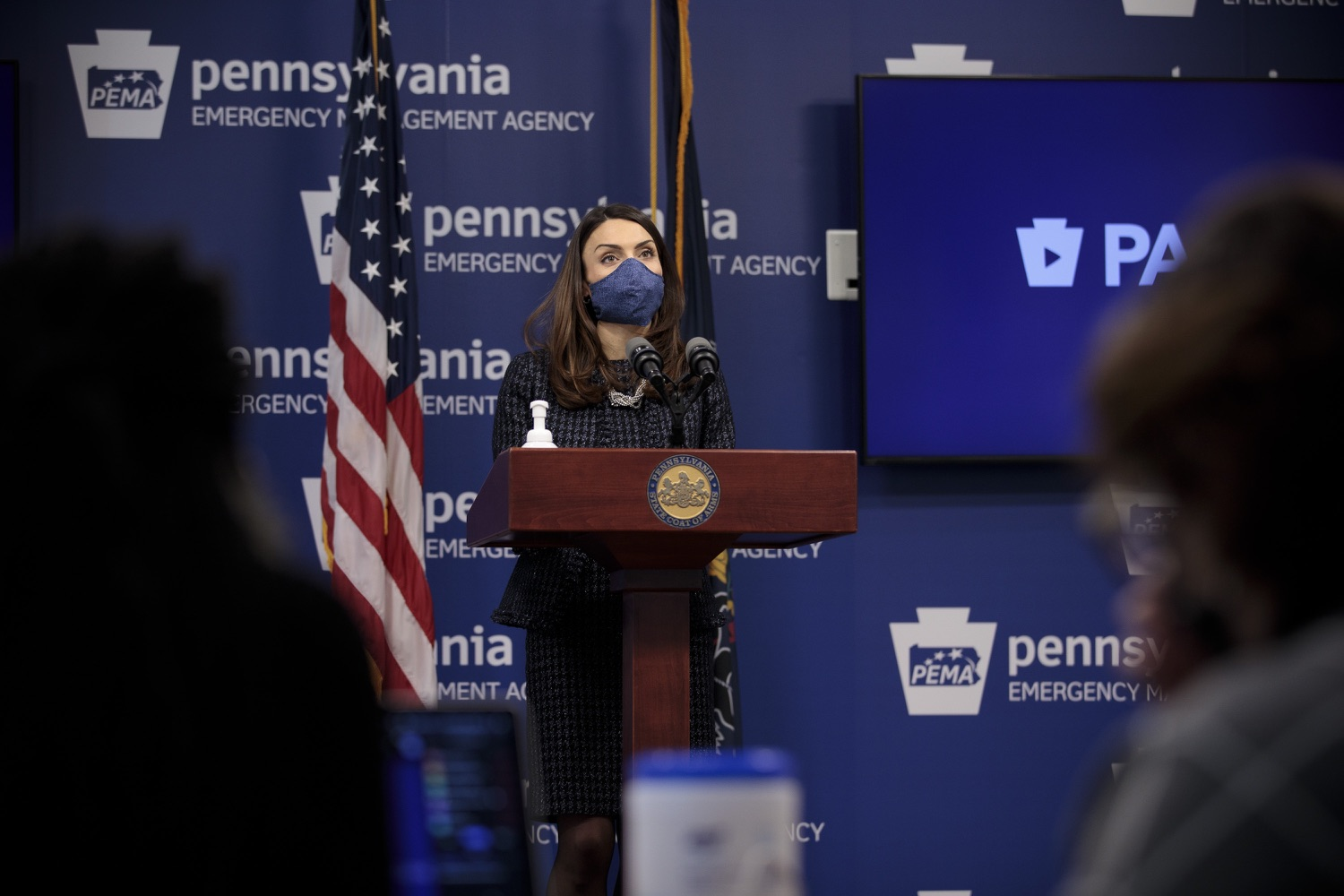 "<a href=""https://filesource.wostreaming.net/commonwealthofpa/photo/18537_doh_covid_dz_10.jpg"" target=""_blank"">⇣ Download Photo<br></a>Department of Health Acting Secretary Alison Beam speaks at the press conference.  The Pennsylvania Department of Health and the newly formed joint task force with the legislature today reaffirmed their commitment to ensuring that Pennsylvanians will have access to second doses of COVID-19 vaccine within the CDC-recommended timeframe of up to 42 days after the first dose. Harrisburg, PA  February 17, 2021"