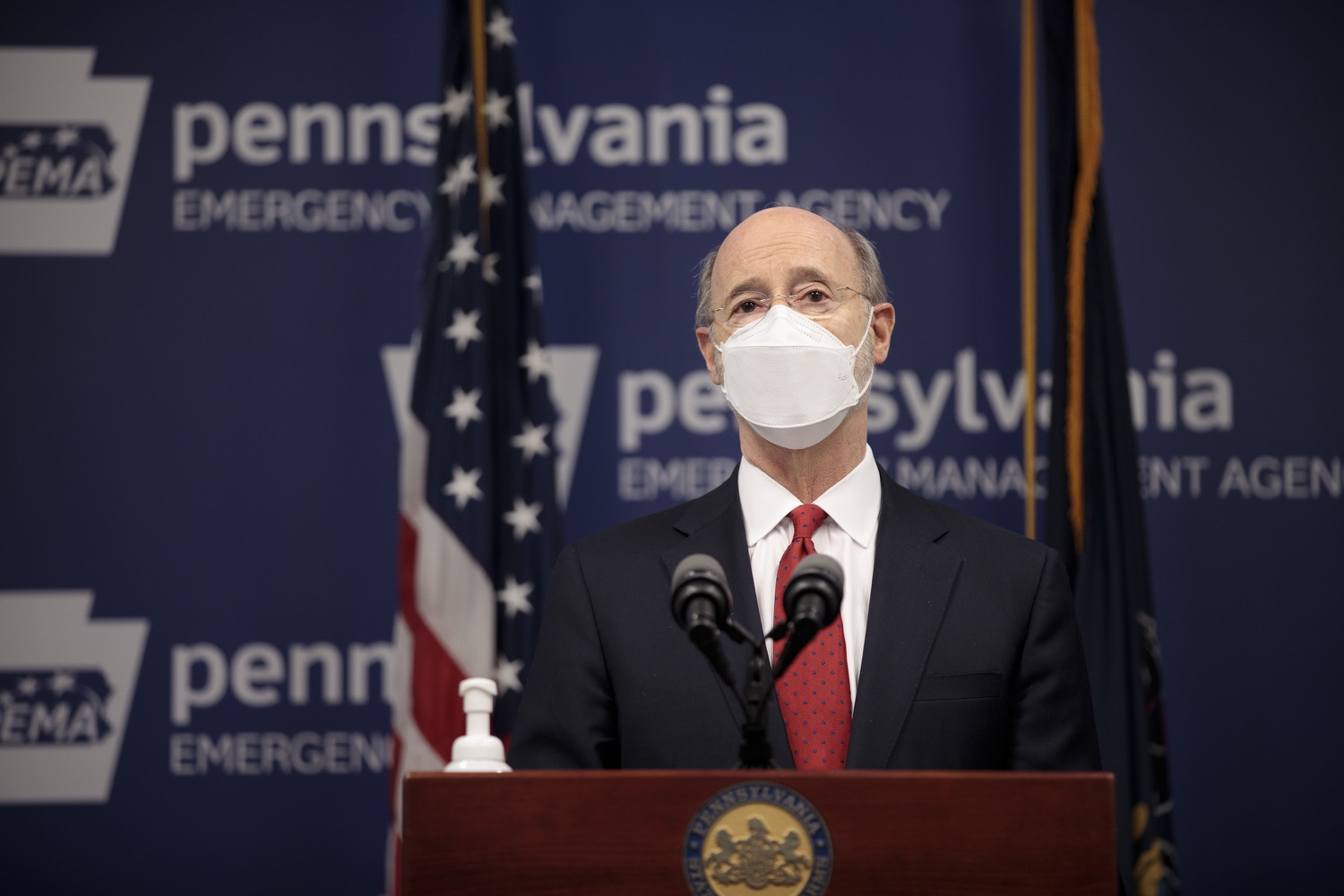"<a href=""https://filesource.wostreaming.net/commonwealthofpa/photo/18540_gov_backtowork_dz_05.jpg"" target=""_blank"">⇣ Download Photo<br></a>Pennsylvania Governor Tom Wolf speaking at the press conference. The COVID-19 global pandemic has significantly affected Pennsylvania workers, businesses and communities. To bolster economic recovery efforts and position Pennsylvania for economic growth, Governor Tom Wolf today unveiled his Back to Work PA plan.   Harrisburg, PA  February 22, 2021"
