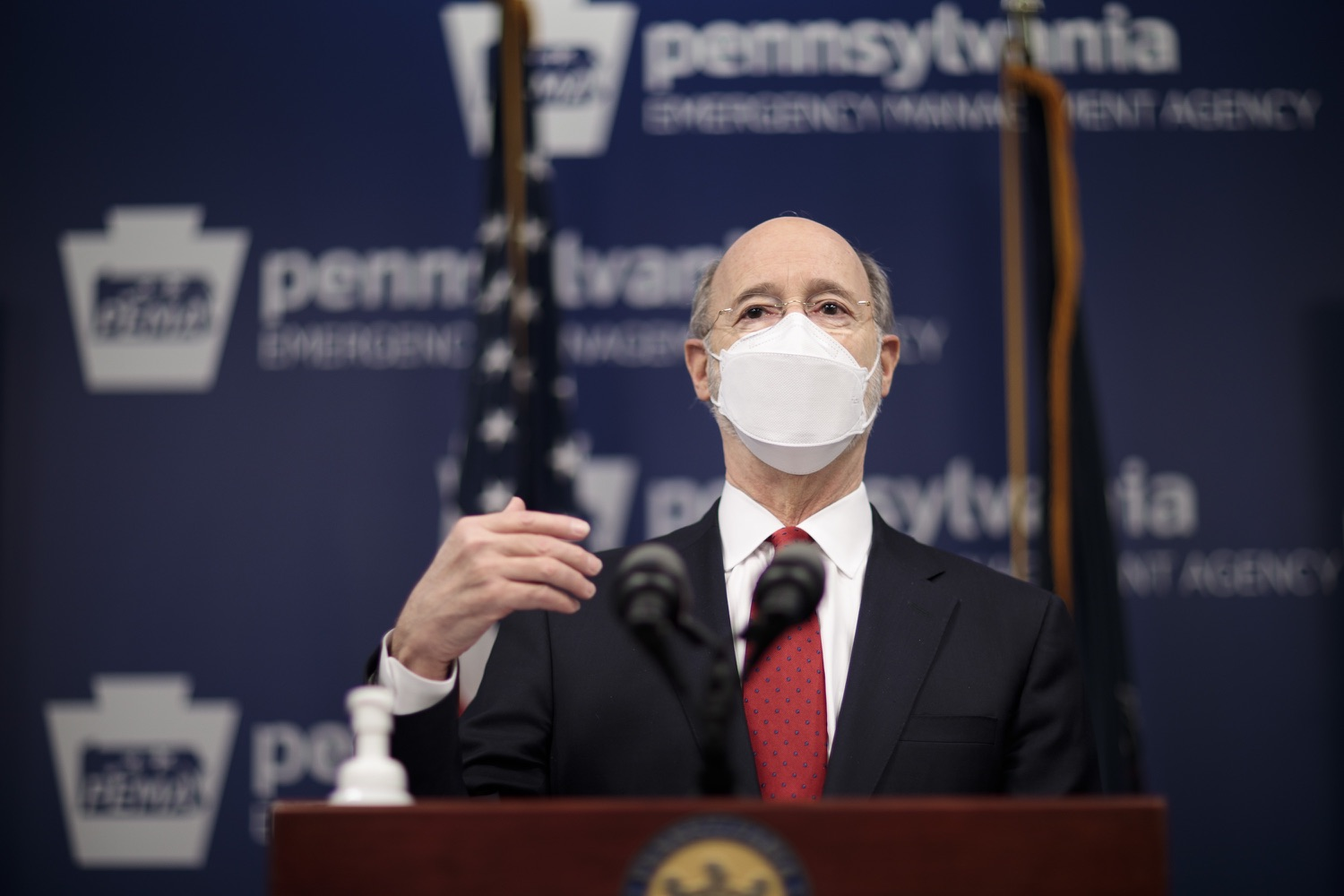 "<a href=""https://filesource.wostreaming.net/commonwealthofpa/photo/18540_gov_backtowork_dz_07.jpg"" target=""_blank"">⇣ Download Photo<br></a>Pennsylvania Governor Tom Wolf speaking at the press conference. The COVID-19 global pandemic has significantly affected Pennsylvania workers, businesses and communities. To bolster economic recovery efforts and position Pennsylvania for economic growth, Governor Tom Wolf today unveiled his Back to Work PA plan.   Harrisburg, PA  February 22, 2021"