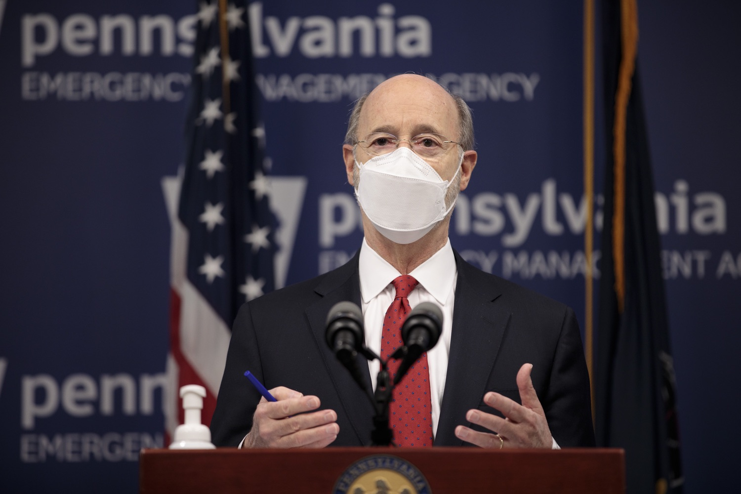 "<a href=""https://filesource.wostreaming.net/commonwealthofpa/photo/18540_gov_backtowork_dz_08.jpg"" target=""_blank"">⇣ Download Photo<br></a>Pennsylvania Governor Tom Wolf speaking at the press conference. The COVID-19 global pandemic has significantly affected Pennsylvania workers, businesses and communities. To bolster economic recovery efforts and position Pennsylvania for economic growth, Governor Tom Wolf today unveiled his Back to Work PA plan.   Harrisburg, PA  February 22, 2021"
