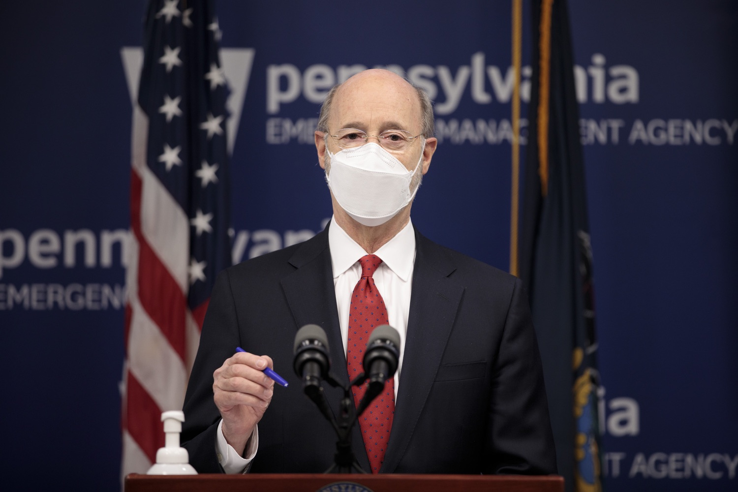 "<a href=""https://filesource.wostreaming.net/commonwealthofpa/photo/18540_gov_backtowork_dz_09.jpg"" target=""_blank"">⇣ Download Photo<br></a>Pennsylvania Governor Tom Wolf speaking at the press conference. The COVID-19 global pandemic has significantly affected Pennsylvania workers, businesses and communities. To bolster economic recovery efforts and position Pennsylvania for economic growth, Governor Tom Wolf today unveiled his Back to Work PA plan.   Harrisburg, PA  February 22, 2021"