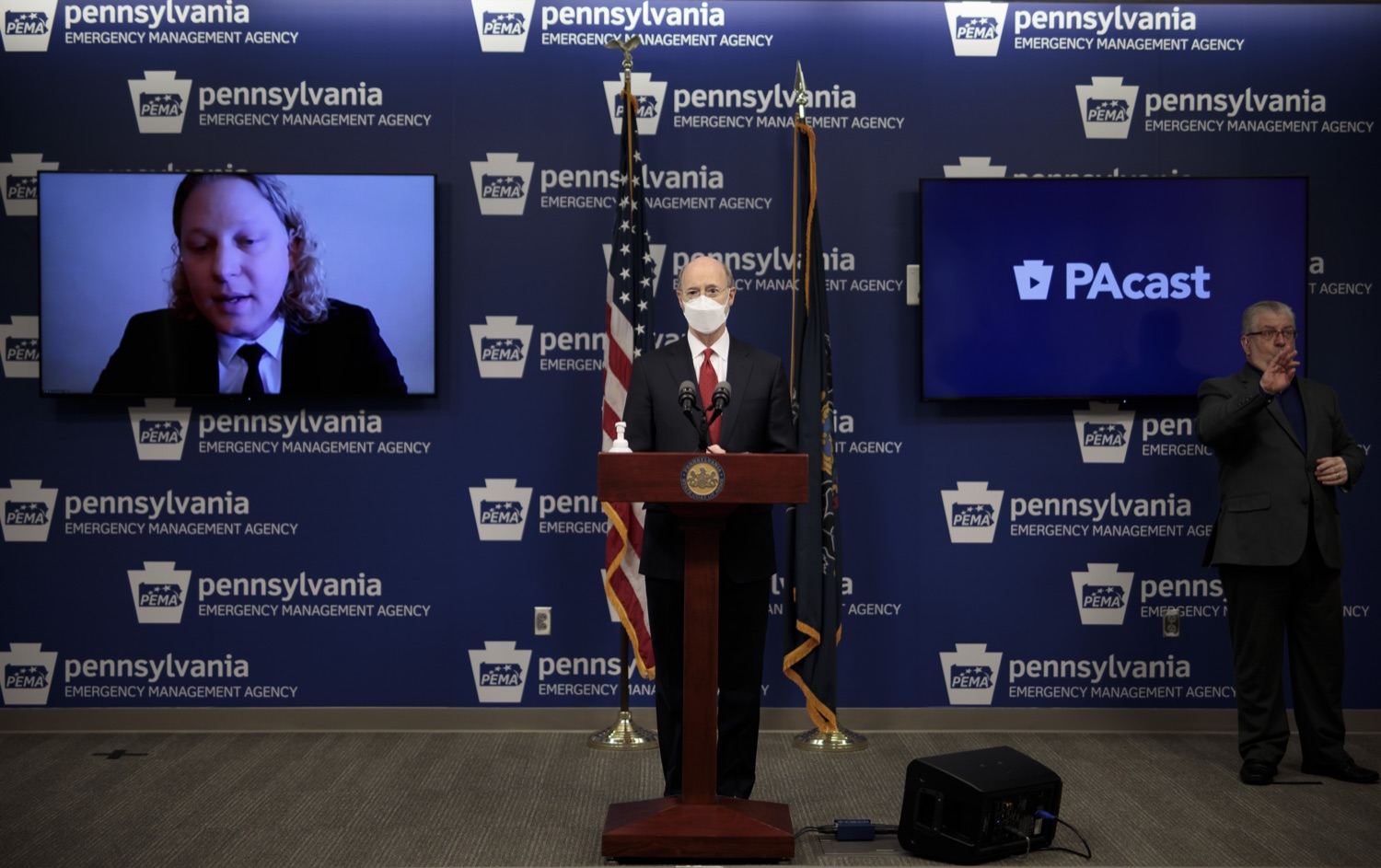 "<a href=""https://filesource.wostreaming.net/commonwealthofpa/photo/18540_gov_backtowork_dz_10.jpg"" target=""_blank"">⇣ Download Photo<br></a>Pennsylvania Governor Tom Wolf speaking at the press conference. The COVID-19 global pandemic has significantly affected Pennsylvania workers, businesses and communities. To bolster economic recovery efforts and position Pennsylvania for economic growth, Governor Tom Wolf today unveiled his Back to Work PA plan.   Harrisburg, PA  February 22, 2021"
