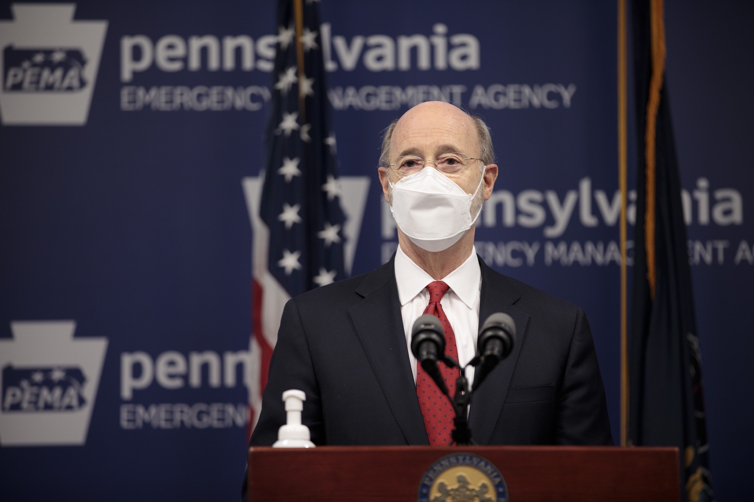 "<a href=""https://filesource.wostreaming.net/commonwealthofpa/photo/18540_gov_backtowork_dz_11.jpg"" target=""_blank"">⇣ Download Photo<br></a>Pennsylvania Governor Tom Wolf speaking at the press conference. The COVID-19 global pandemic has significantly affected Pennsylvania workers, businesses and communities. To bolster economic recovery efforts and position Pennsylvania for economic growth, Governor Tom Wolf today unveiled his Back to Work PA plan.   Harrisburg, PA  February 22, 2021"