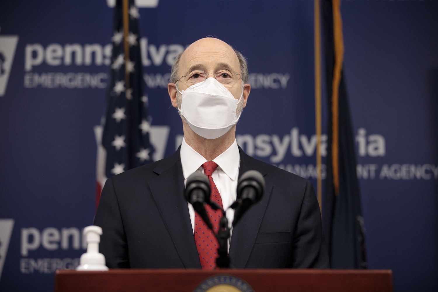 "<a href=""https://filesource.wostreaming.net/commonwealthofpa/photo/18540_gov_backtowork_dz_12.jpg"" target=""_blank"">⇣ Download Photo<br></a>Pennsylvania Governor Tom Wolf speaking at the press conference. The COVID-19 global pandemic has significantly affected Pennsylvania workers, businesses and communities. To bolster economic recovery efforts and position Pennsylvania for economic growth, Governor Tom Wolf today unveiled his Back to Work PA plan.   Harrisburg, PA  February 22, 2021"