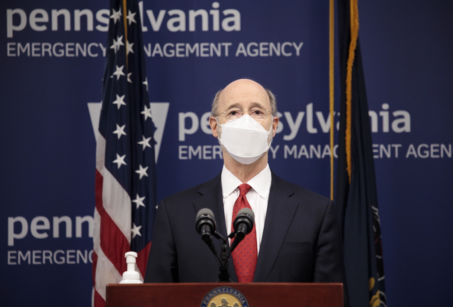 "<a href=""https://filesource.wostreaming.net/commonwealthofpa/photo/18540_gov_backtowork_dz_15.jpg"" target=""_blank"">⇣ Download Photo<br></a>Pennsylvania Governor Tom Wolf speaking at the press conference. The COVID-19 global pandemic has significantly affected Pennsylvania workers, businesses and communities. To bolster economic recovery efforts and position Pennsylvania for economic growth, Governor Tom Wolf today unveiled his Back to Work PA plan.   Harrisburg, PA  February 22, 2021"