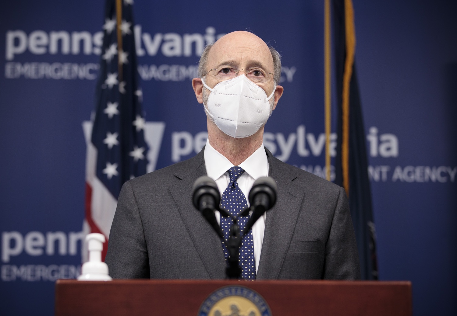 """<a href=""""https://filesource.wostreaming.net/commonwealthofpa/photo/18548_gov_vaccine_dz_13.jpg"""" target=""""_blank"""">⇣Download Photo<br></a>Pennsylvania Governor Tom Wolf speaking at the press conference.  Governor Tom Wolf today marked a milestone in the implementation of the states COVID-19 vaccination plan with the announcement that more than 600 skilled nursing facilities have received first and second doses of the vaccine, and in total more than 315,000 doses of vaccine administered among all long-term care facilities being vaccinated by CVS and Walgreens.  Harrisburg, PA - February 23, 2021"""