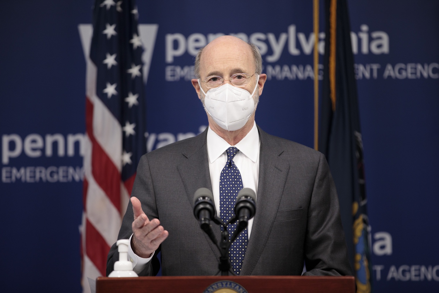 """<a href=""""https://filesource.wostreaming.net/commonwealthofpa/photo/18548_gov_vaccine_dz_15.jpg"""" target=""""_blank"""">⇣Download Photo<br></a>Pennsylvania Governor Tom Wolf speaking at the press conference.  Governor Tom Wolf today marked a milestone in the implementation of the states COVID-19 vaccination plan with the announcement that more than 600 skilled nursing facilities have received first and second doses of the vaccine, and in total more than 315,000 doses of vaccine administered among all long-term care facilities being vaccinated by CVS and Walgreens.  Harrisburg, PA - February 23, 2021"""