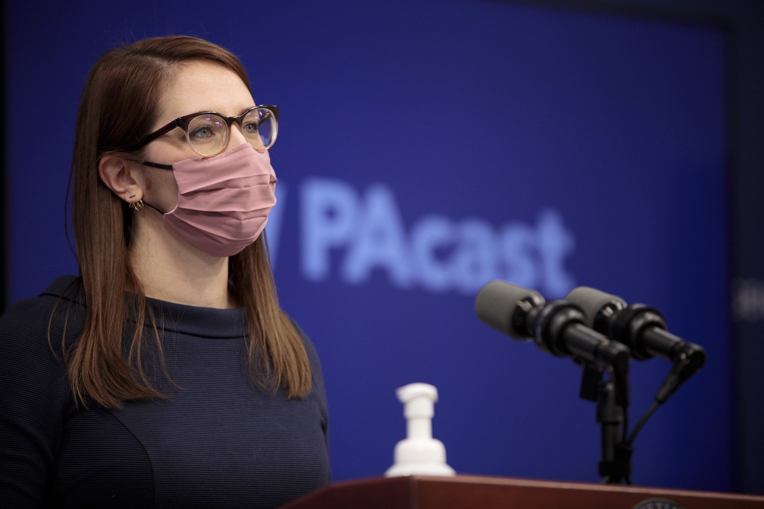 """<a href=""""https://filesource.wostreaming.net/commonwealthofpa/photo/18555_doh_vaccine_dz_03.jpg"""" target=""""_blank"""">⇣Download Photo<br></a>COVID-19 Response Lindsey Mauldin speaks at the press conference. The Pennsylvania Department of Health today confirmed as of 12:00 a.m., February 26, there were 3,346 additional positive cases of COVID-19, bringing the statewide total to 926,336.  Harrisburg, PA - February 26, 2021"""