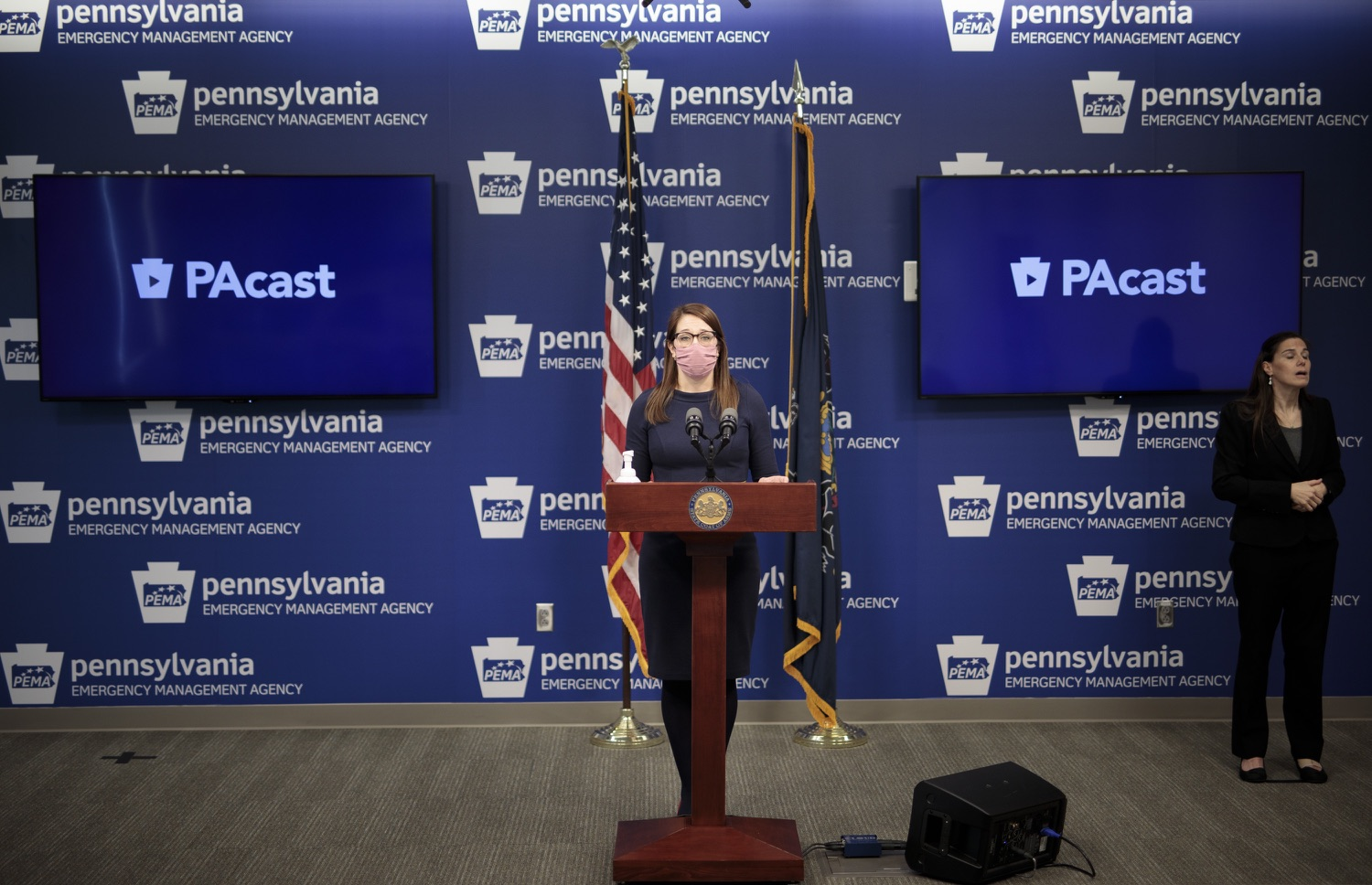 """<a href=""""https://filesource.wostreaming.net/commonwealthofpa/photo/18555_doh_vaccine_dz_06.jpg"""" target=""""_blank"""">⇣Download Photo<br></a>COVID-19 Response Lindsey Mauldin speaks at the press conference. The Pennsylvania Department of Health today confirmed as of 12:00 a.m., February 26, there were 3,346 additional positive cases of COVID-19, bringing the statewide total to 926,336.  Harrisburg, PA - February 26, 2021"""