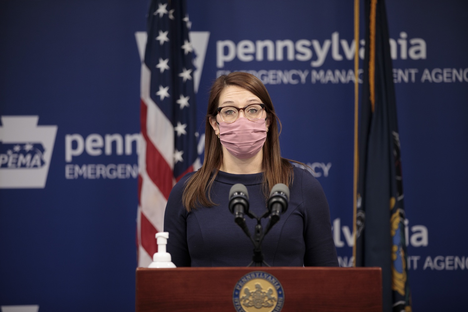"""<a href=""""https://filesource.wostreaming.net/commonwealthofpa/photo/18555_doh_vaccine_dz_07.jpg"""" target=""""_blank"""">⇣Download Photo<br></a>COVID-19 Response Lindsey Mauldin speaks at the press conference. The Pennsylvania Department of Health today confirmed as of 12:00 a.m., February 26, there were 3,346 additional positive cases of COVID-19, bringing the statewide total to 926,336.  Harrisburg, PA - February 26, 2021"""