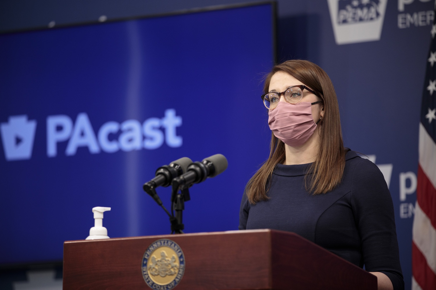 """<a href=""""https://filesource.wostreaming.net/commonwealthofpa/photo/18555_doh_vaccine_dz_08.jpg"""" target=""""_blank"""">⇣Download Photo<br></a>COVID-19 Response Lindsey Mauldin speaks at the press conference. The Pennsylvania Department of Health today confirmed as of 12:00 a.m., February 26, there were 3,346 additional positive cases of COVID-19, bringing the statewide total to 926,336.  Harrisburg, PA - February 26, 2021"""