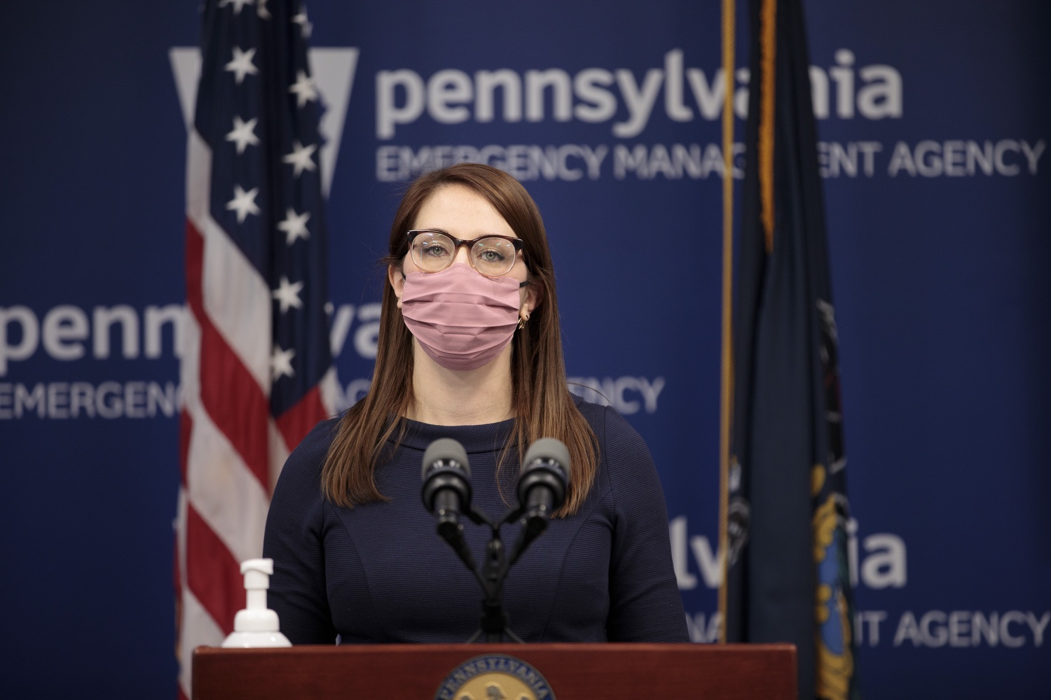 """<a href=""""https://filesource.wostreaming.net/commonwealthofpa/photo/18555_doh_vaccine_dz_12.jpg"""" target=""""_blank"""">⇣Download Photo<br></a>COVID-19 Response Lindsey Mauldin speaks at the press conference. The Pennsylvania Department of Health today confirmed as of 12:00 a.m., February 26, there were 3,346 additional positive cases of COVID-19, bringing the statewide total to 926,336.  Harrisburg, PA - February 26, 2021"""
