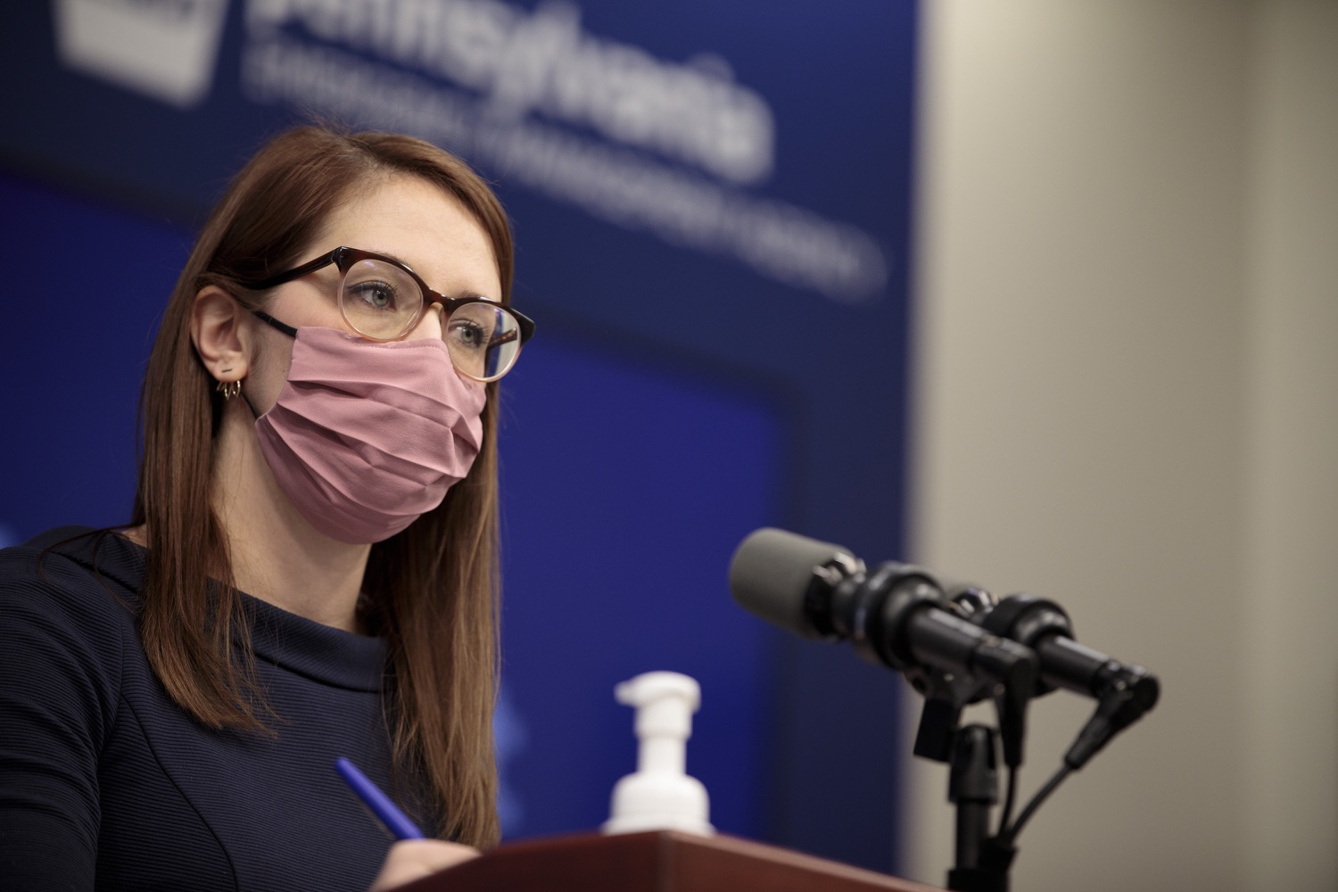 """<a href=""""https://filesource.wostreaming.net/commonwealthofpa/photo/18555_doh_vaccine_dz_15.jpg"""" target=""""_blank"""">⇣Download Photo<br></a>COVID-19 Response Lindsey Mauldin speaks at the press conference. The Pennsylvania Department of Health today confirmed as of 12:00 a.m., February 26, there were 3,346 additional positive cases of COVID-19, bringing the statewide total to 926,336.  Harrisburg, PA - February 26, 2021"""