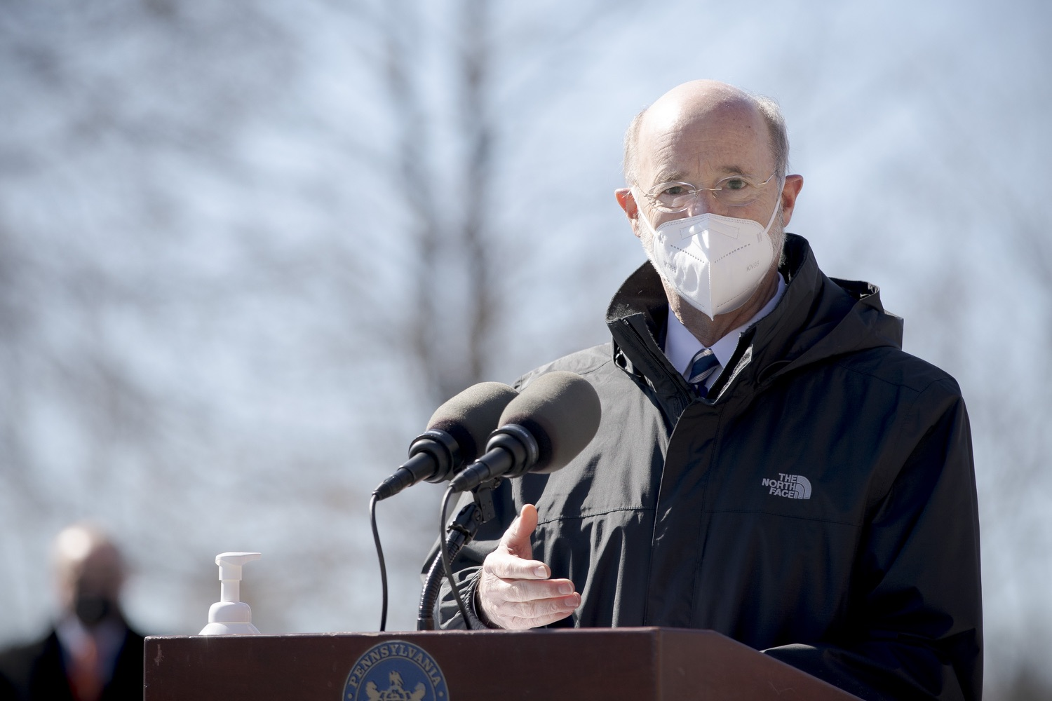 "<a href=""https://filesource.wostreaming.net/commonwealthofpa/photo/18560_gov_chirp_dz_01.jpg"" target=""_blank"">⇣ Download Photo<br></a>Pennsylvania Governor Tom Wolf answers questions from the press.  Governor Tom Wolf announced today that the hospitality industry will soon be able to apply for immediate relief through the COVID-19 Hospitality Industry Recovery Program (CHIRP), a new grant program established by the Wolf Administration to support local businesses in the hospitality industry that were affected by the COVID-19 pandemic. Harrisburg, PA  March 2, 2021. .."
