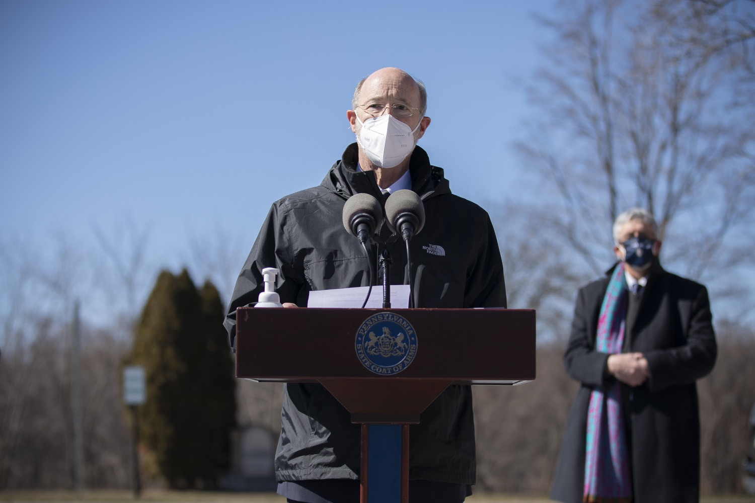 "<a href=""https://filesource.wostreaming.net/commonwealthofpa/photo/18560_gov_chirp_dz_04.jpg"" target=""_blank"">⇣ Download Photo<br></a>Pennsylvania Governor Tom Wolf answers questions from the press.  Governor Tom Wolf announced today that the hospitality industry will soon be able to apply for immediate relief through the COVID-19 Hospitality Industry Recovery Program (CHIRP), a new grant program established by the Wolf Administration to support local businesses in the hospitality industry that were affected by the COVID-19 pandemic. Harrisburg, PA  March 2, 2021. .."