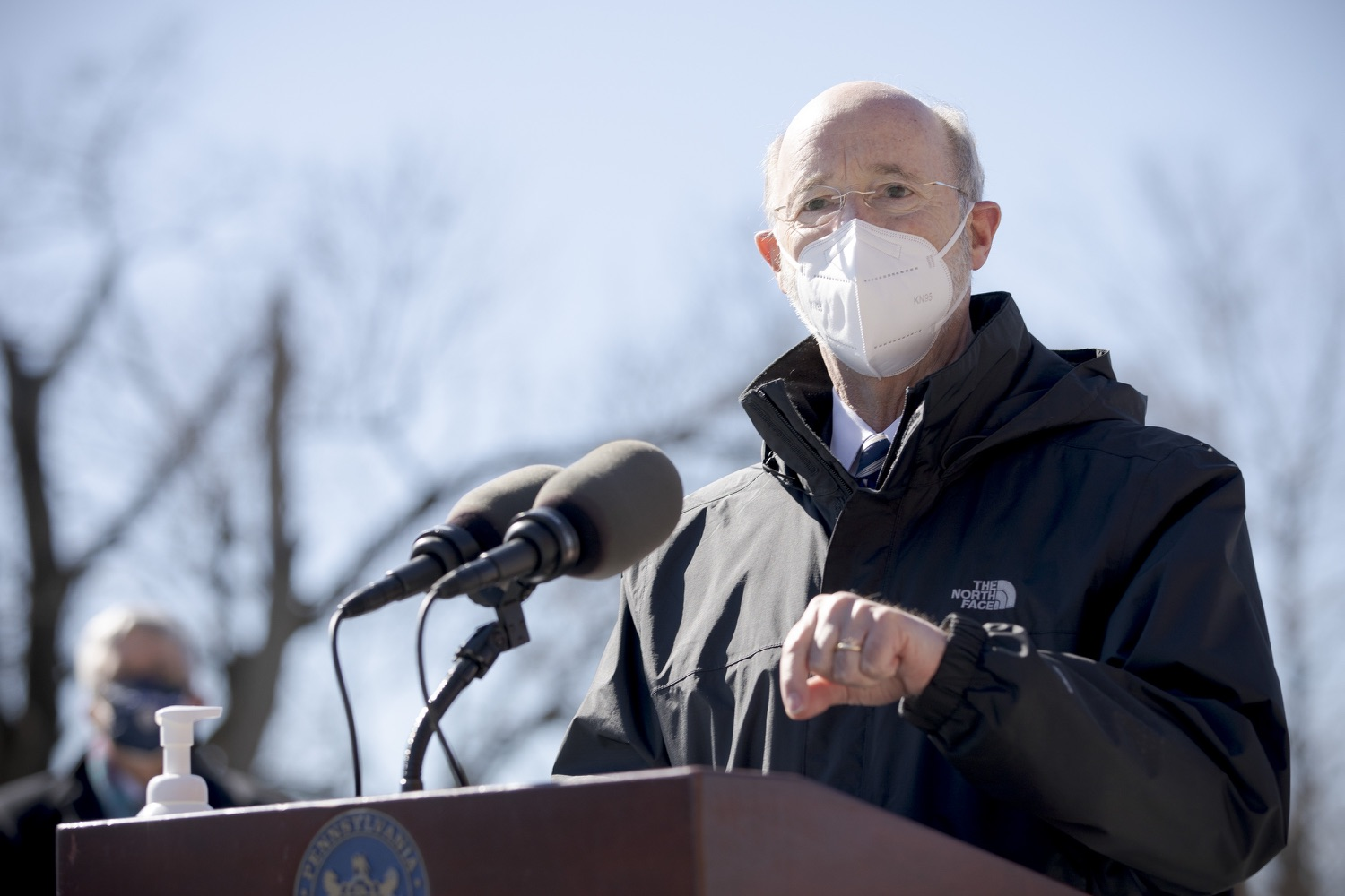 "<a href=""https://filesource.wostreaming.net/commonwealthofpa/photo/18560_gov_chirp_dz_11.jpg"" target=""_blank"">⇣ Download Photo<br></a>Pennsylvania Governor Tom Wolf answers questions from the press.  Governor Tom Wolf announced today that the hospitality industry will soon be able to apply for immediate relief through the COVID-19 Hospitality Industry Recovery Program (CHIRP), a new grant program established by the Wolf Administration to support local businesses in the hospitality industry that were affected by the COVID-19 pandemic. Harrisburg, PA  March 2, 2021. .."