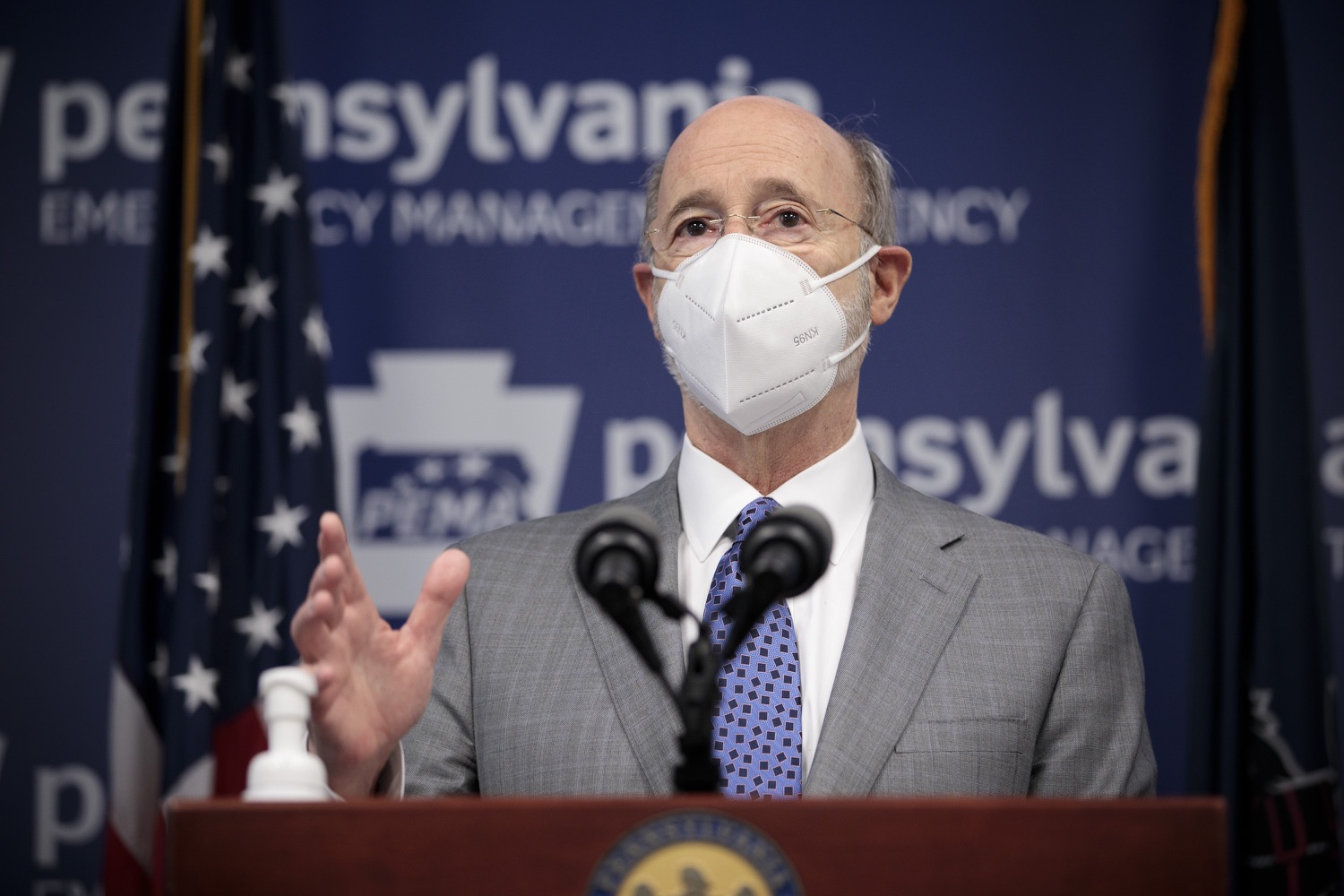 """<a href=""""https://filesource.wostreaming.net/commonwealthofpa/photo/18561_gov_vaccine_dz_01.jpg"""" target=""""_blank"""">⇣Download Photo<br></a>Pennsylvania Governor Tom Wolf speaks at the press conference.  As part of the priority to safely and quickly get more students back in the classroom, Governor Tom Wolf and the COVID-19 Vaccine Task Force today announced that Pennsylvania will use the Johnson & Johnson (Janssen) single-dose COVID-19 vaccine for PreK-12 teachers and other school staff. Harrisburg, PA  March 3, 2021"""