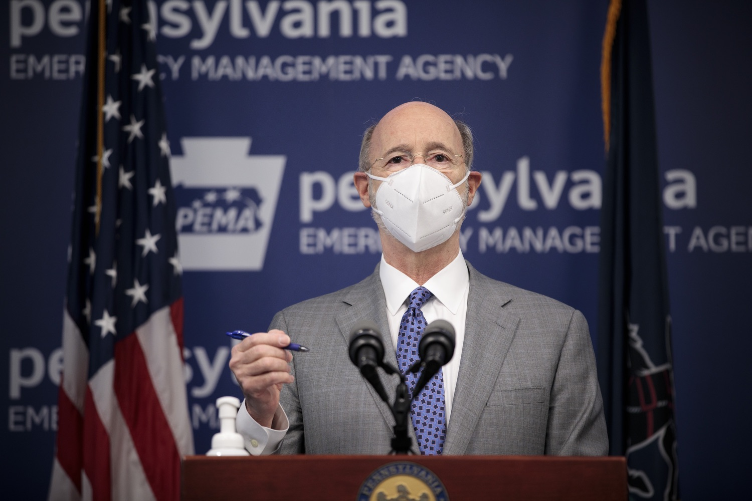 """<a href=""""https://filesource.wostreaming.net/commonwealthofpa/photo/18561_gov_vaccine_dz_04.jpg"""" target=""""_blank"""">⇣Download Photo<br></a>Pennsylvania Governor Tom Wolf speaks at the press conference.  As part of the priority to safely and quickly get more students back in the classroom, Governor Tom Wolf and the COVID-19 Vaccine Task Force today announced that Pennsylvania will use the Johnson & Johnson (Janssen) single-dose COVID-19 vaccine for PreK-12 teachers and other school staff. Harrisburg, PA  March 3, 2021"""