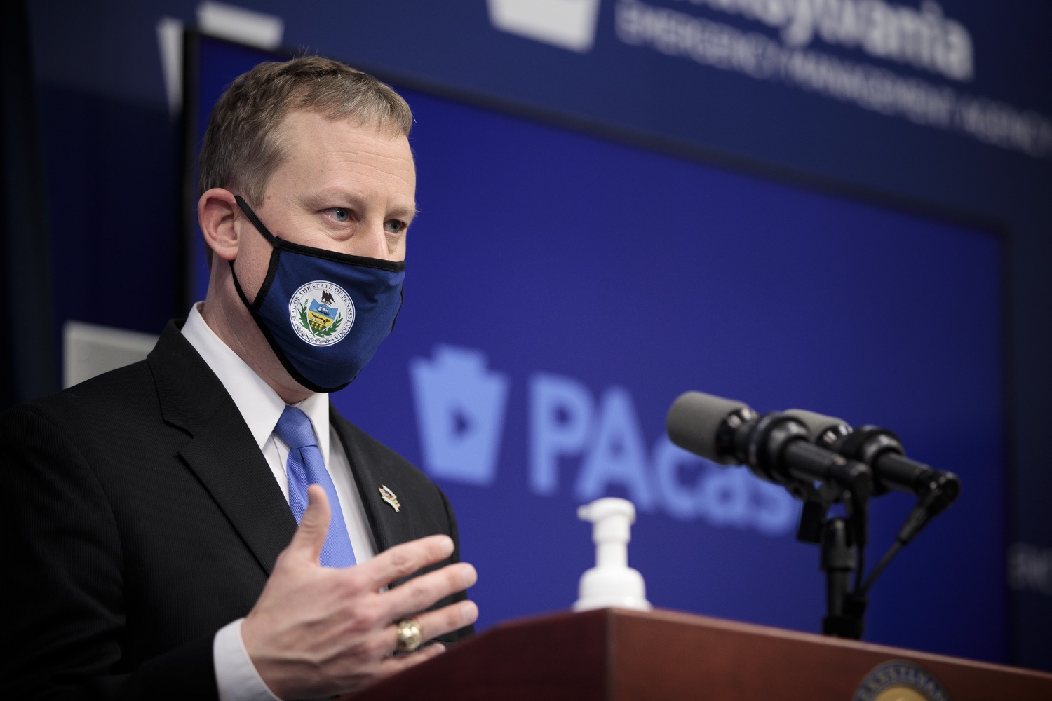 """<a href=""""https://filesource.wostreaming.net/commonwealthofpa/photo/18561_gov_vaccine_dz_05.jpg"""" target=""""_blank"""">⇣Download Photo<br></a>Sen. Ryan Aument speaks at the press conference.  As part of the priority to safely and quickly get more students back in the classroom, Governor Tom Wolf and the COVID-19 Vaccine Task Force today announced that Pennsylvania will use the Johnson & Johnson (Janssen) single-dose COVID-19 vaccine for PreK-12 teachers and other school staff. Harrisburg, PA  March 3, 2021"""