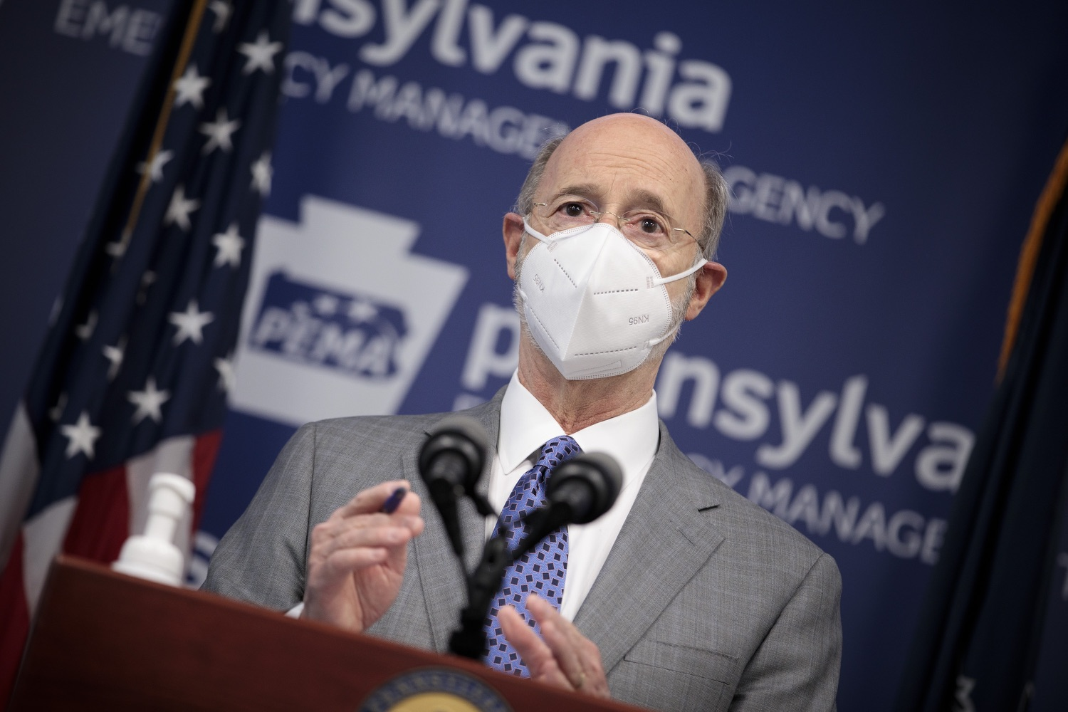 """<a href=""""https://filesource.wostreaming.net/commonwealthofpa/photo/18561_gov_vaccine_dz_07.jpg"""" target=""""_blank"""">⇣Download Photo<br></a>Pennsylvania Governor Tom Wolf speaks at the press conference.  As part of the priority to safely and quickly get more students back in the classroom, Governor Tom Wolf and the COVID-19 Vaccine Task Force today announced that Pennsylvania will use the Johnson & Johnson (Janssen) single-dose COVID-19 vaccine for PreK-12 teachers and other school staff. Harrisburg, PA  March 3, 2021"""