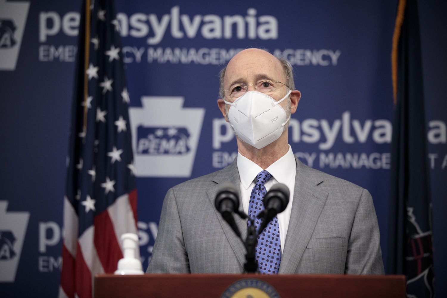 """<a href=""""https://filesource.wostreaming.net/commonwealthofpa/photo/18561_gov_vaccine_dz_09.jpg"""" target=""""_blank"""">⇣Download Photo<br></a>Pennsylvania Governor Tom Wolf speaks at the press conference.  As part of the priority to safely and quickly get more students back in the classroom, Governor Tom Wolf and the COVID-19 Vaccine Task Force today announced that Pennsylvania will use the Johnson & Johnson (Janssen) single-dose COVID-19 vaccine for PreK-12 teachers and other school staff. Harrisburg, PA  March 3, 2021"""