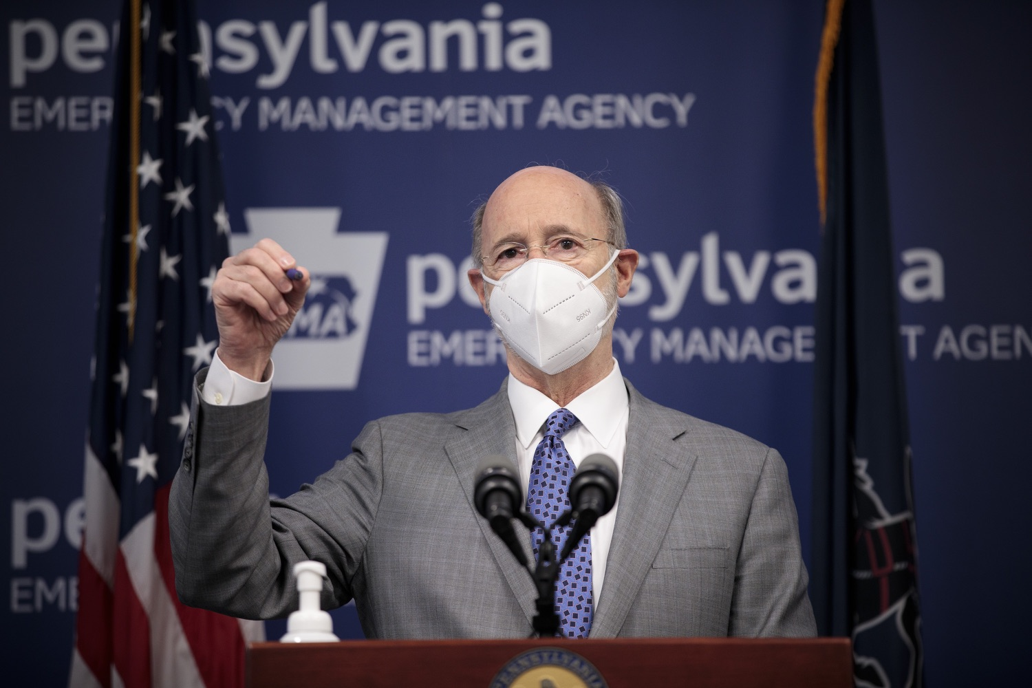 """<a href=""""https://filesource.wostreaming.net/commonwealthofpa/photo/18561_gov_vaccine_dz_12.jpg"""" target=""""_blank"""">⇣Download Photo<br></a>Pennsylvania Governor Tom Wolf speaks at the press conference.  As part of the priority to safely and quickly get more students back in the classroom, Governor Tom Wolf and the COVID-19 Vaccine Task Force today announced that Pennsylvania will use the Johnson & Johnson (Janssen) single-dose COVID-19 vaccine for PreK-12 teachers and other school staff. Harrisburg, PA  March 3, 2021"""