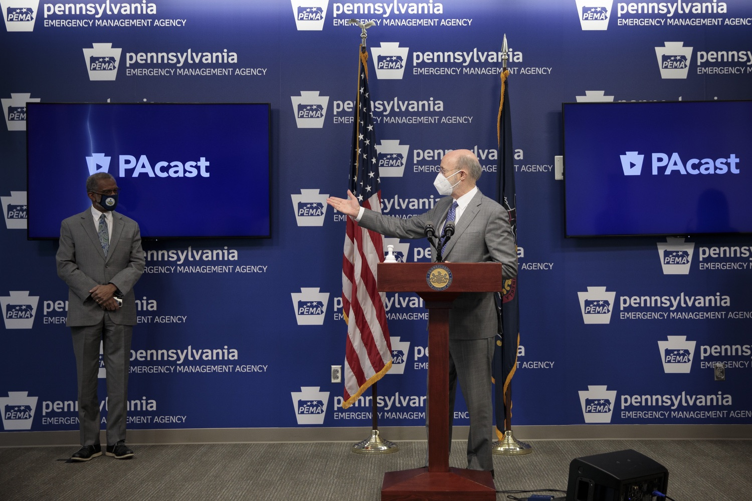"""<a href=""""https://filesource.wostreaming.net/commonwealthofpa/photo/18561_gov_vaccine_dz_13.jpg"""" target=""""_blank"""">⇣Download Photo<br></a>Pennsylvania Governor Tom Wolf speaks at the press conference.  As part of the priority to safely and quickly get more students back in the classroom, Governor Tom Wolf and the COVID-19 Vaccine Task Force today announced that Pennsylvania will use the Johnson & Johnson (Janssen) single-dose COVID-19 vaccine for PreK-12 teachers and other school staff. Harrisburg, PA  March 3, 2021"""
