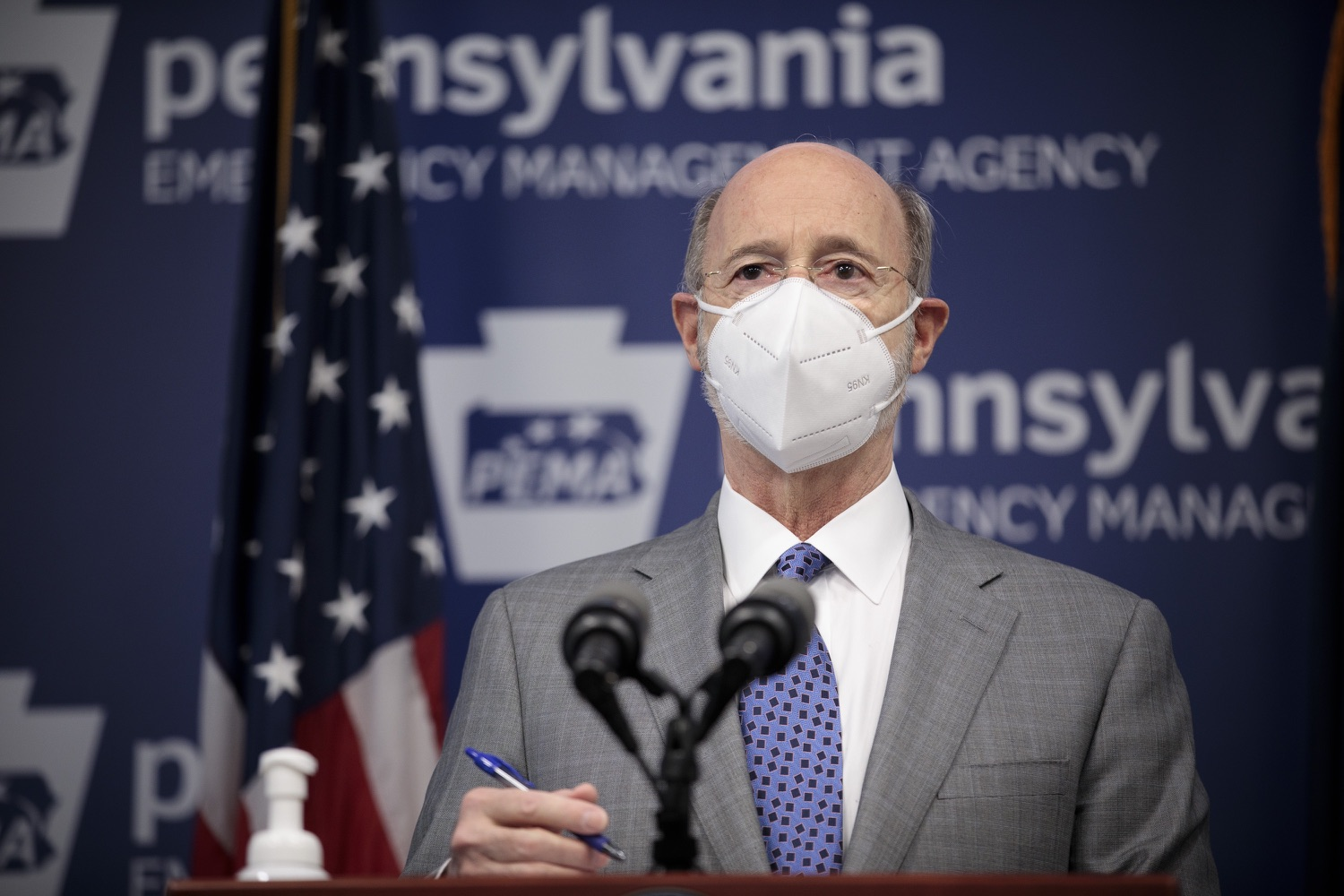 """<a href=""""https://filesource.wostreaming.net/commonwealthofpa/photo/18561_gov_vaccine_dz_16.jpg"""" target=""""_blank"""">⇣Download Photo<br></a>Pennsylvania Governor Tom Wolf speaks at the press conference.  As part of the priority to safely and quickly get more students back in the classroom, Governor Tom Wolf and the COVID-19 Vaccine Task Force today announced that Pennsylvania will use the Johnson & Johnson (Janssen) single-dose COVID-19 vaccine for PreK-12 teachers and other school staff. Harrisburg, PA  March 3, 2021"""
