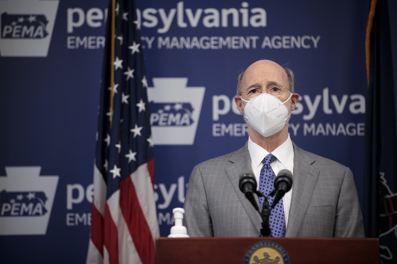 """<a href=""""https://filesource.wostreaming.net/commonwealthofpa/photo/18561_gov_vaccine_dz_18.jpg"""" target=""""_blank"""">⇣Download Photo<br></a>Pennsylvania Governor Tom Wolf speaks at the press conference.  As part of the priority to safely and quickly get more students back in the classroom, Governor Tom Wolf and the COVID-19 Vaccine Task Force today announced that Pennsylvania will use the Johnson & Johnson (Janssen) single-dose COVID-19 vaccine for PreK-12 teachers and other school staff. Harrisburg, PA  March 3, 2021"""