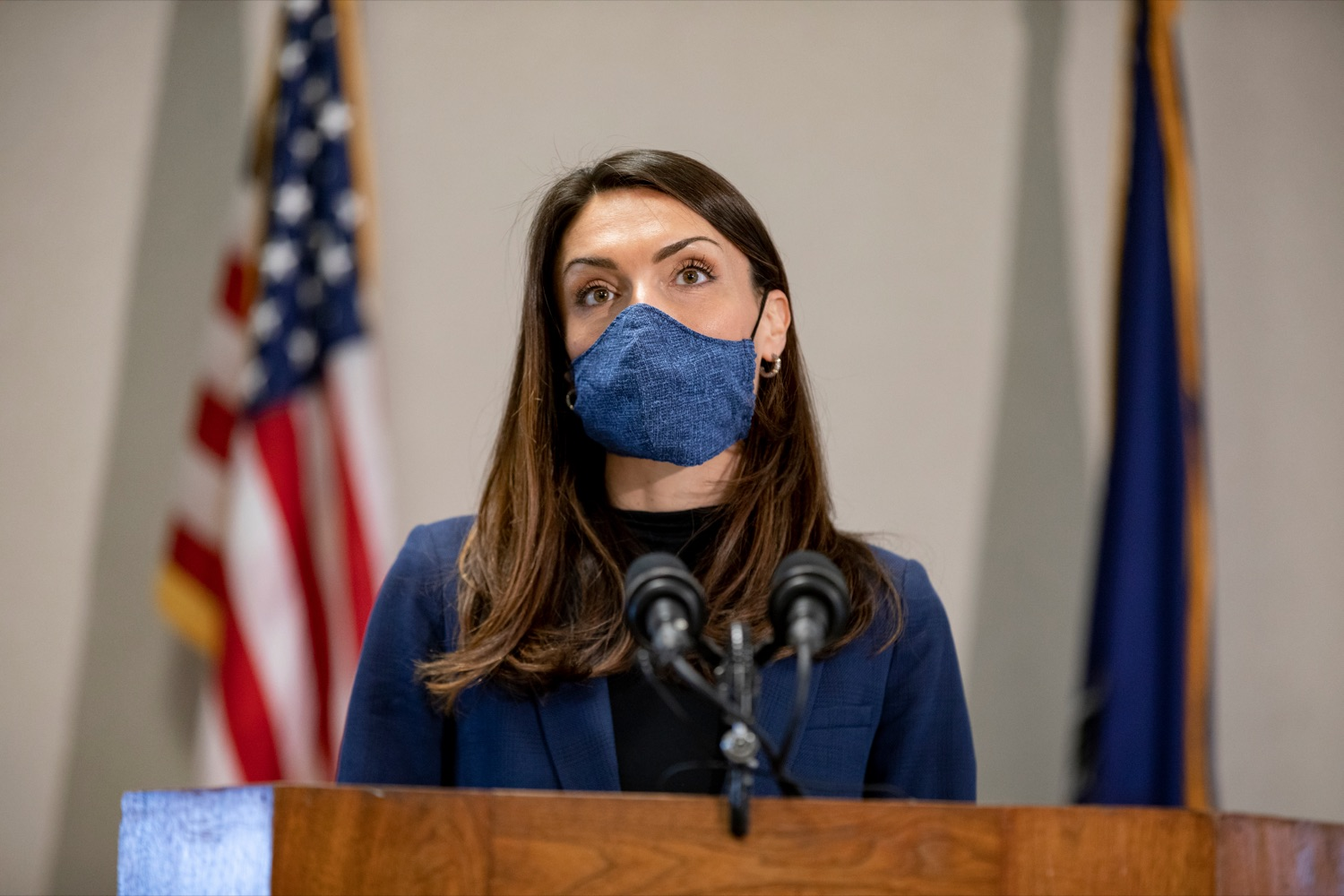 """<a href=""""https://filesource.wostreaming.net/commonwealthofpa/photo/18624_DOH_Masonic_Village_NK_004.jpg"""" target=""""_blank"""">⇣Download Photo<br></a>Acting Secretary of Health Alison Beam speaks during a press conference at Masonic Village in Elizabethtown on Monday, March 29, 2021."""