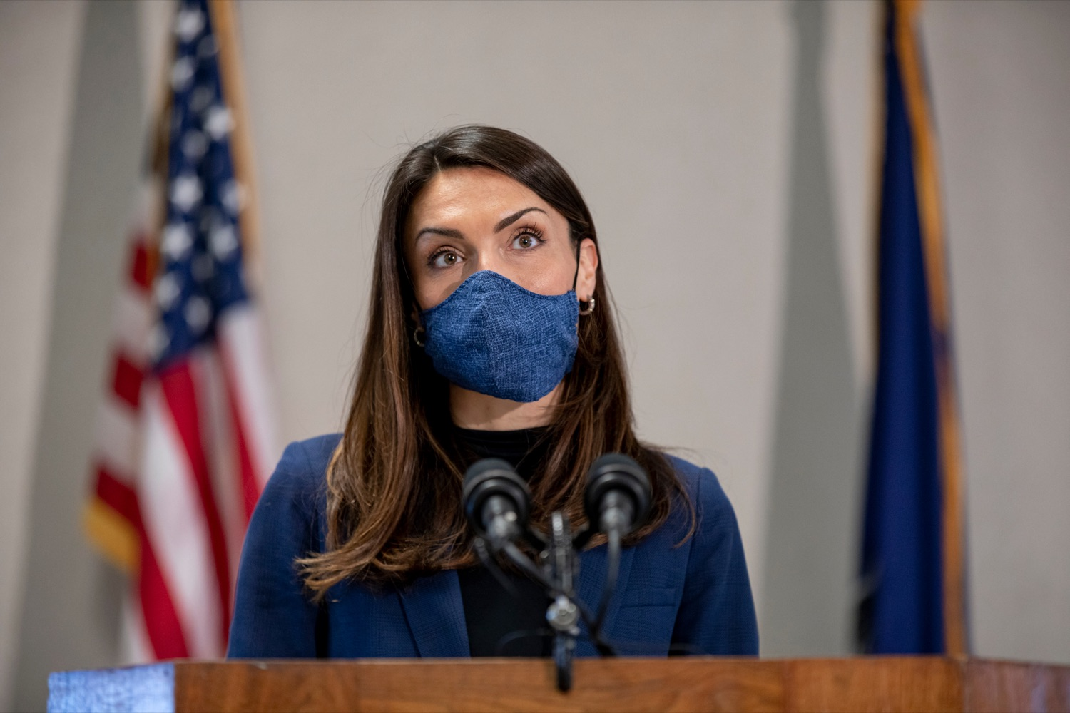 """<a href=""""https://filesource.wostreaming.net/commonwealthofpa/photo/18624_DOH_Masonic_Village_NK_007.jpg"""" target=""""_blank"""">⇣Download Photo<br></a>Acting Secretary of Health Alison Beam speaks during a press conference at Masonic Village in Elizabethtown on Monday, March 29, 2021."""