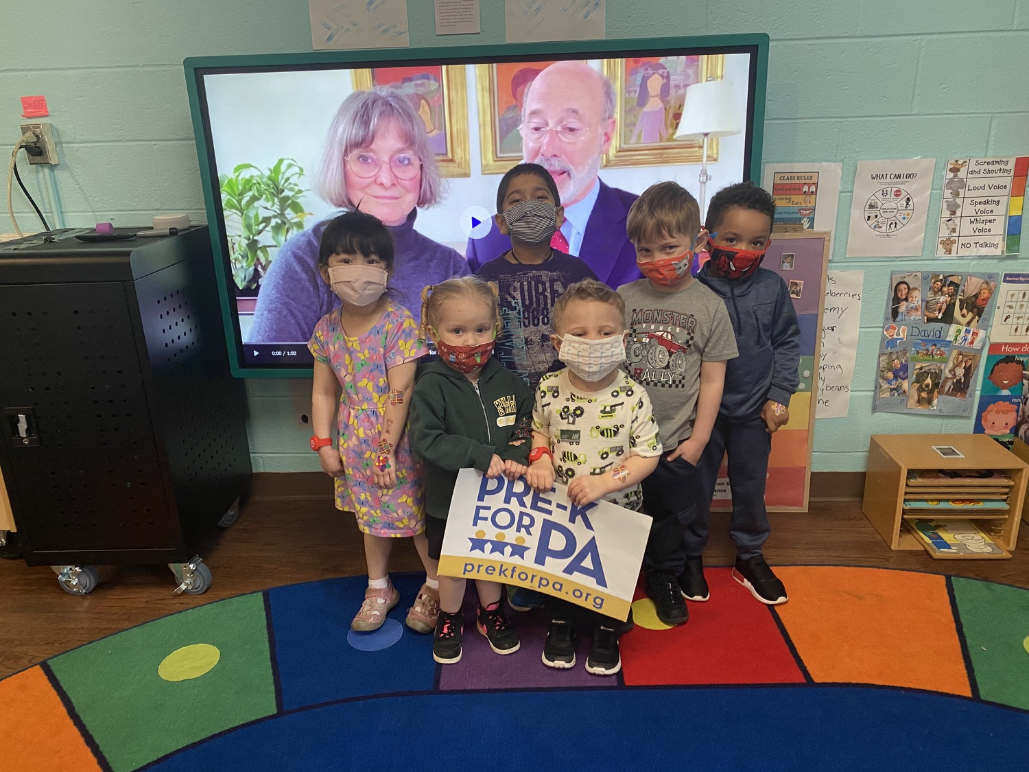 """<a href=""""https://filesource.wostreaming.net/commonwealthofpa/photo/18632_FL_DayNurseryAssociation_Scranton_03.jpeg"""" target=""""_blank"""">⇣Download Photo<br></a> Virtual Egg Hunt with the First Lady"""