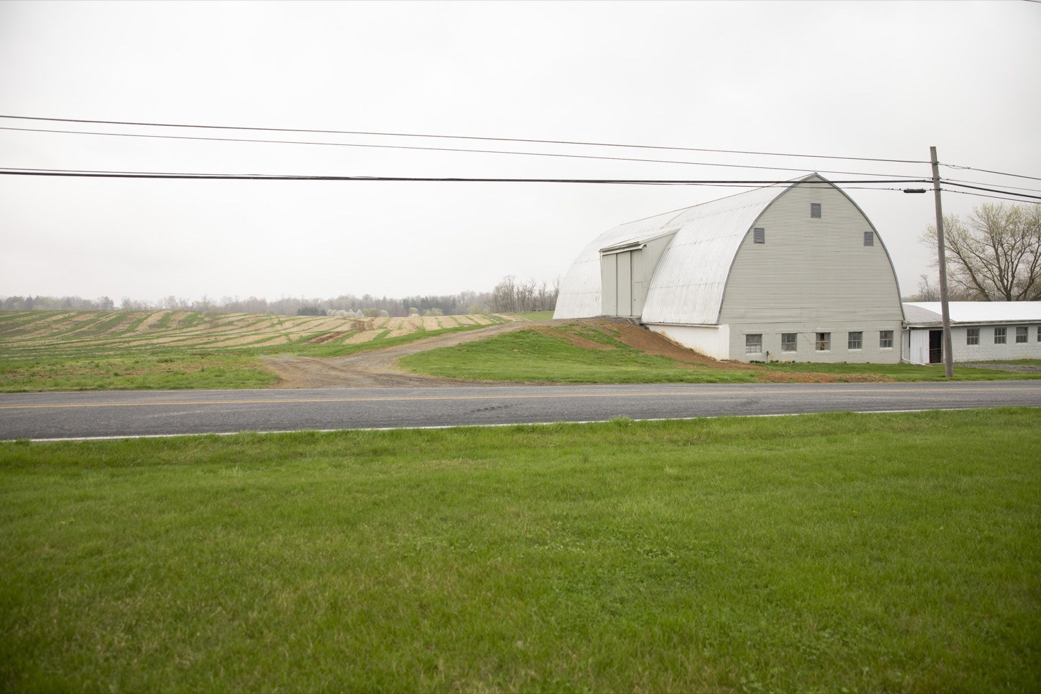 """<a href=""""https://filesource.wostreaming.net/commonwealthofpa/photo/18647_agric_vitalityGrants_cz_03.jpg"""" target=""""_blank"""">⇣Download Photo<br></a>On a preserved farm in Cumberland County, the Department of Agriculture announces the 2020-21 Farm Vitality Grant Program, which will help fund professional services for those planning for the future of a farm. Boiling Springs, PA on April 9, 2021."""