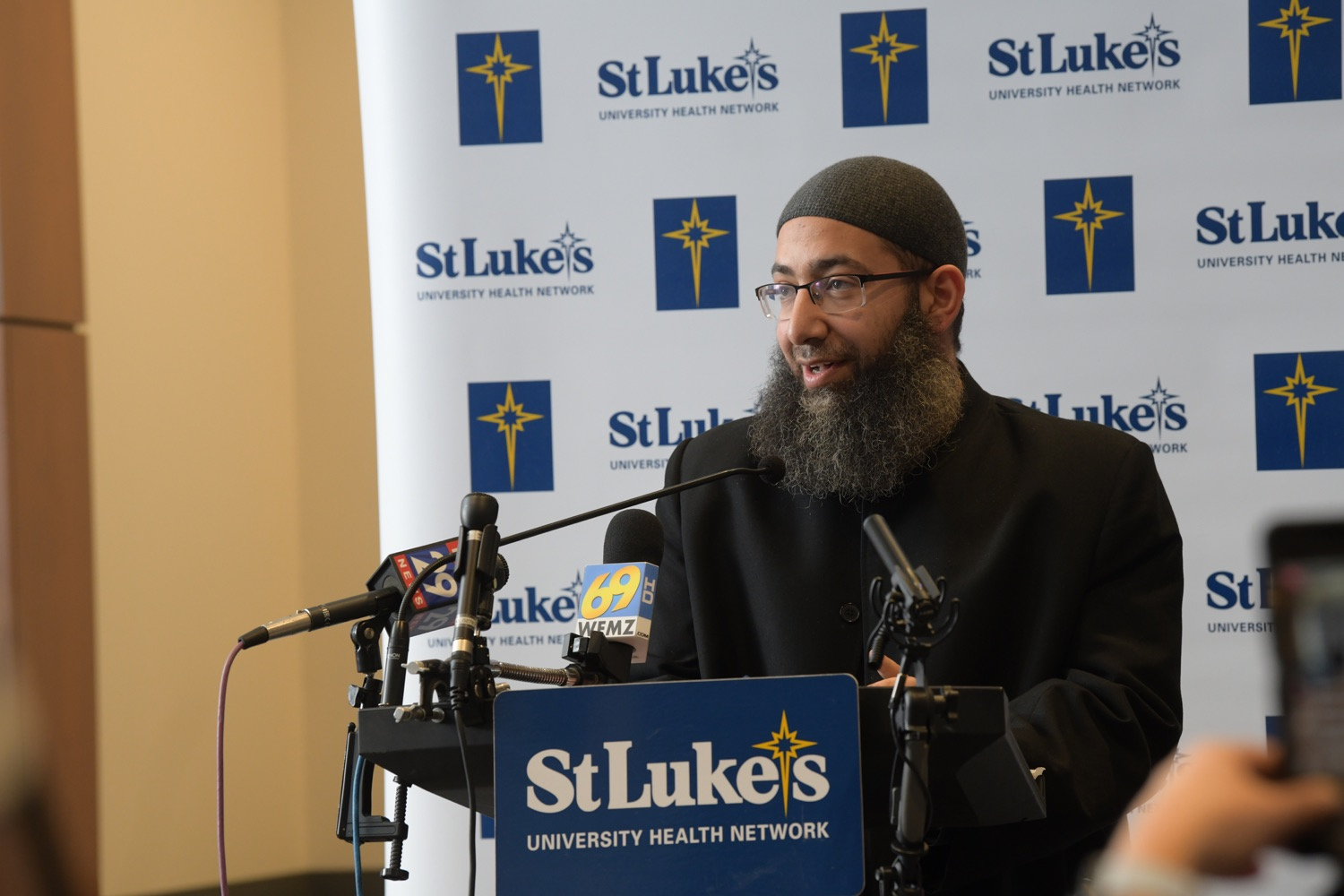 """<a href=""""https://filesource.wostreaming.net/commonwealthofpa/photo/18670_doh_stluke_18.jpg"""" target=""""_blank"""">⇣Download Photo<br></a>Department of Health Joins St. Luke's University Health Network, Muslim Aid Initiative to Discuss Vaccine Hesitancy"""