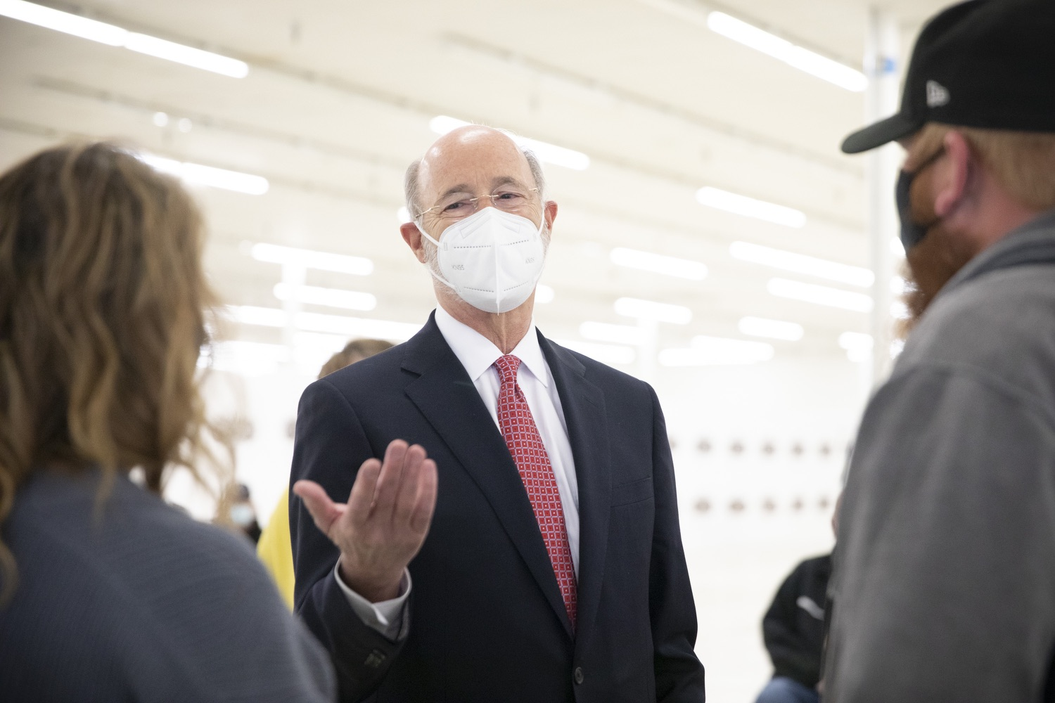 """<a href=""""https://filesource.wostreaming.net/commonwealthofpa/photo/18682_gov_vaccineClinic_dz_023.jpg"""" target=""""_blank"""">⇣Download Photo<br></a>Pennsylvania Governor Tom Wolf touring the regional vaccination clinic.   Governor Tom Wolf today visited the Guthrie Health vaccine clinic in Sayre, Bradford County today to tour this clinic providing vaccines to a large swath of rural residents and to talk about progress in vaccinating Pennsylvanians now that eligibility is open to all individuals age 16 and older.  Sayre, PA   April 21, 2021"""