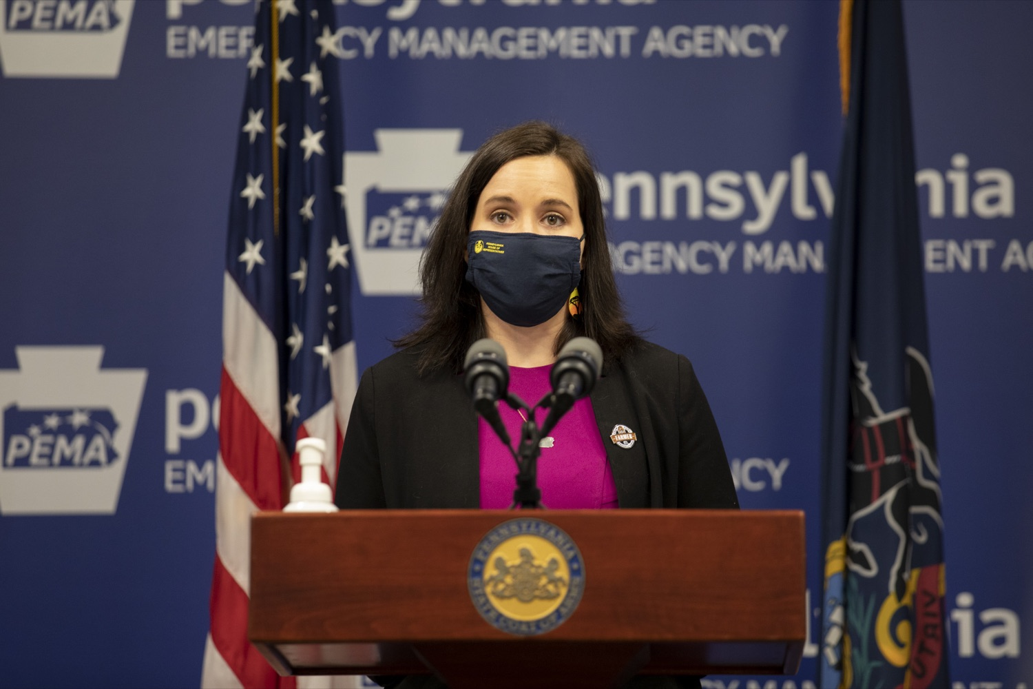 """<a href=""""https://filesource.wostreaming.net/commonwealthofpa/photo/18709_agric_foodAssistance_09.jpg"""" target=""""_blank"""">⇣Download Photo<br></a>Emily Kinkead (D), Representative for district 20 in Allegheny County, talks about how food insecurity has impacted her constituents, highlighting the necessity of food assistance programs. Harrisburg, PA on April 28, 2021."""