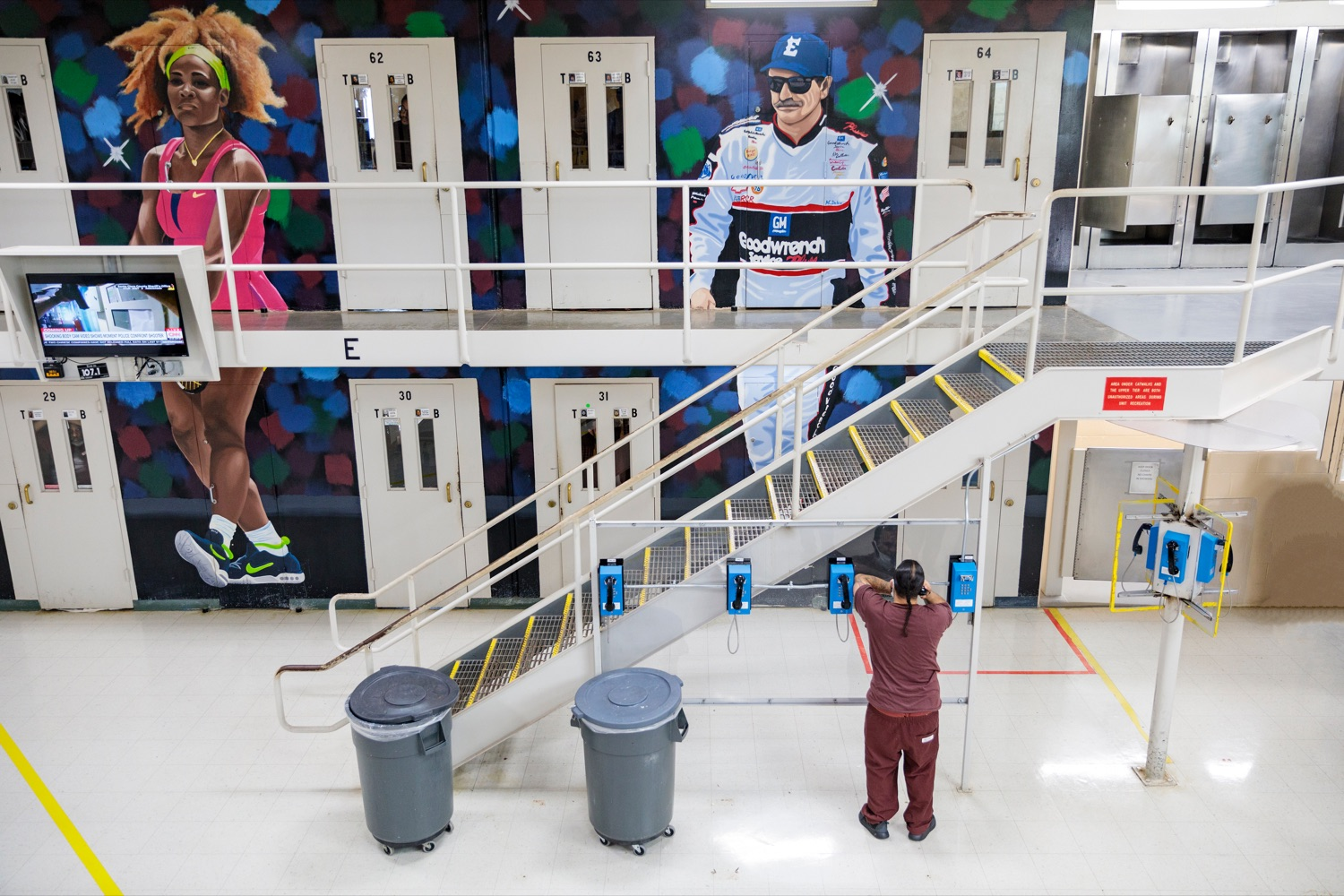 """<a href=""""https://filesource.wostreaming.net/commonwealthofpa/photo/18779_DOC_PostCovid_NK_014.jpg"""" target=""""_blank"""">⇣Download Photo<br></a>Inmates are pictured inside SCI Somerset during a media tour, where staff and inmates discussed life in a congregate setting during the pandemic, how the DOC responded to COVID-19, and next steps for the department as restrictions loosen and in-person visitation is safely re-introduced throughout the state prison system, on Wednesday, June 2, 2021."""