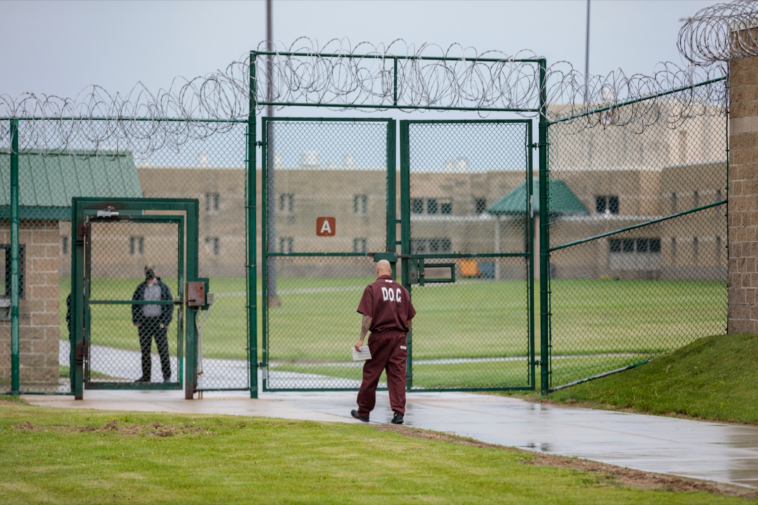 """<a href=""""https://filesource.wostreaming.net/commonwealthofpa/photo/18779_DOC_PostCovid_NK_016.jpg"""" target=""""_blank"""">⇣Download Photo<br></a>Inmates are pictured inside SCI Somerset during a media tour, where staff and inmates discussed life in a congregate setting during the pandemic, how the DOC responded to COVID-19, and next steps for the department as restrictions loosen and in-person visitation is safely re-introduced throughout the state prison system, on Wednesday, June 2, 2021."""