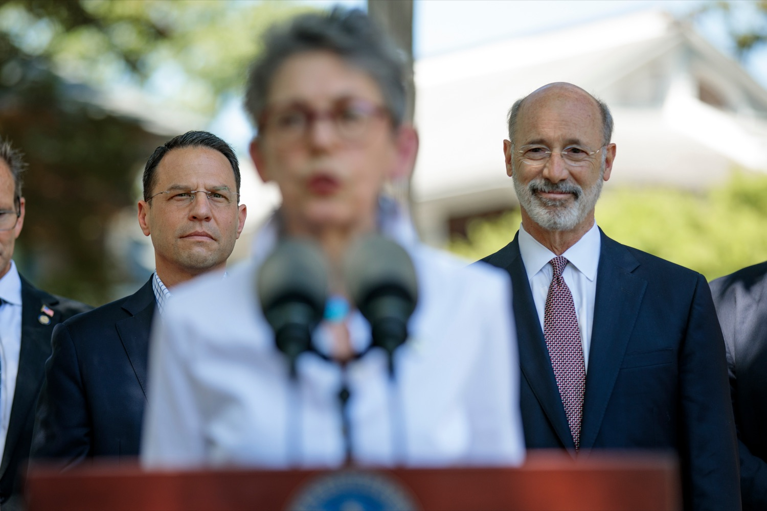 """<a href=""""https://filesource.wostreaming.net/commonwealthofpa/photo/18781_GOV_Choice_NK_004.jpg"""" target=""""_blank"""">⇣Download Photo<br></a>Rep. Mary Jo Daley speaks during a press conference, which discussed the damaging effects of the general assemblys proposed anti-abortion legislation and reaffirm a commitment to protecting reproductive rights, at Narberth Park on Thursday, May 27, 2021."""