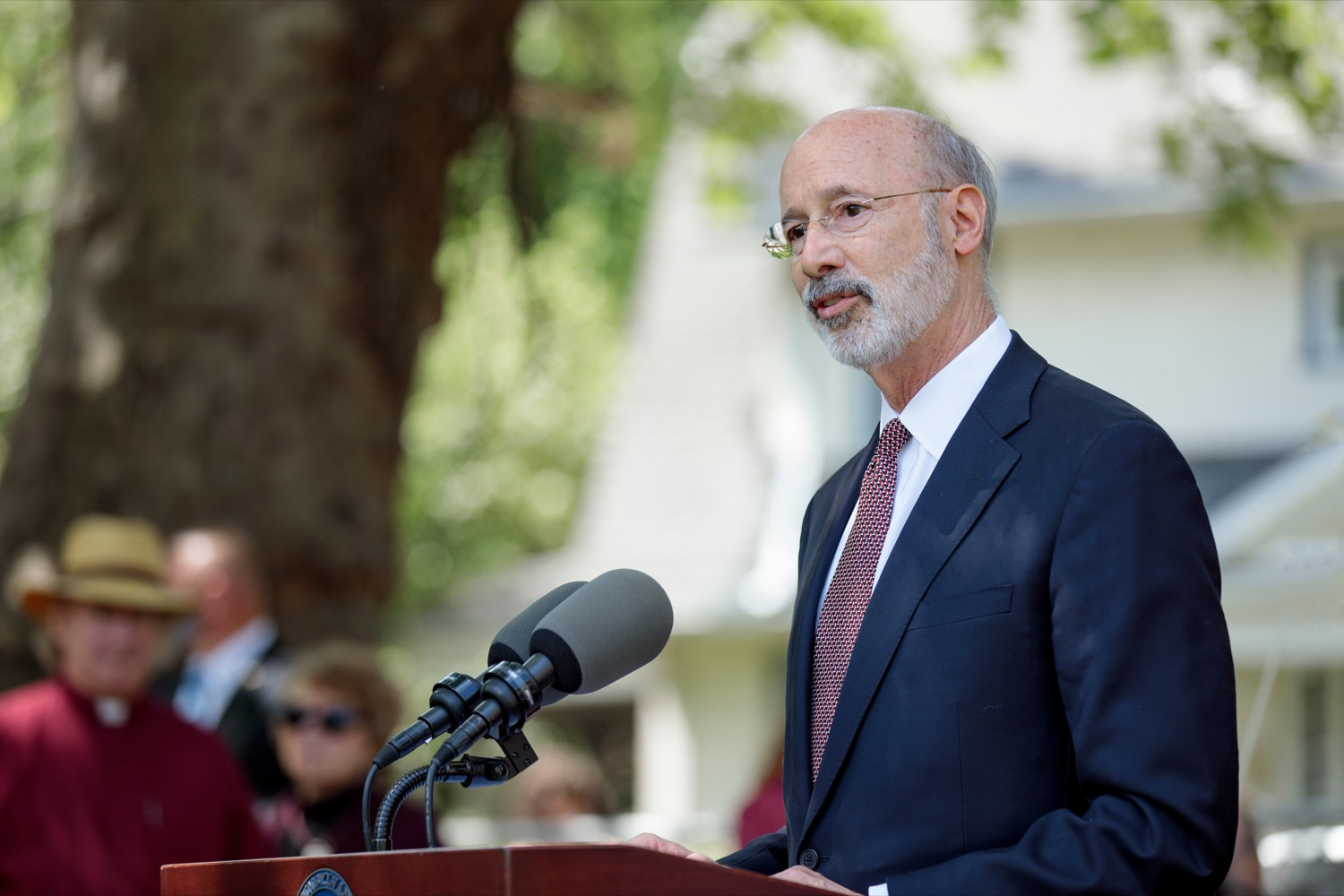 """<a href=""""https://filesource.wostreaming.net/commonwealthofpa/photo/18781_GOV_Choice_NK_007.jpg"""" target=""""_blank"""">⇣Download Photo<br></a>Gov. Tom Wolf speaks during a press conference, which discussed the damaging effects of the general assemblys proposed anti-abortion legislation and reaffirm a commitment to protecting reproductive rights, at Narberth Park on Thursday, May 27, 2021."""