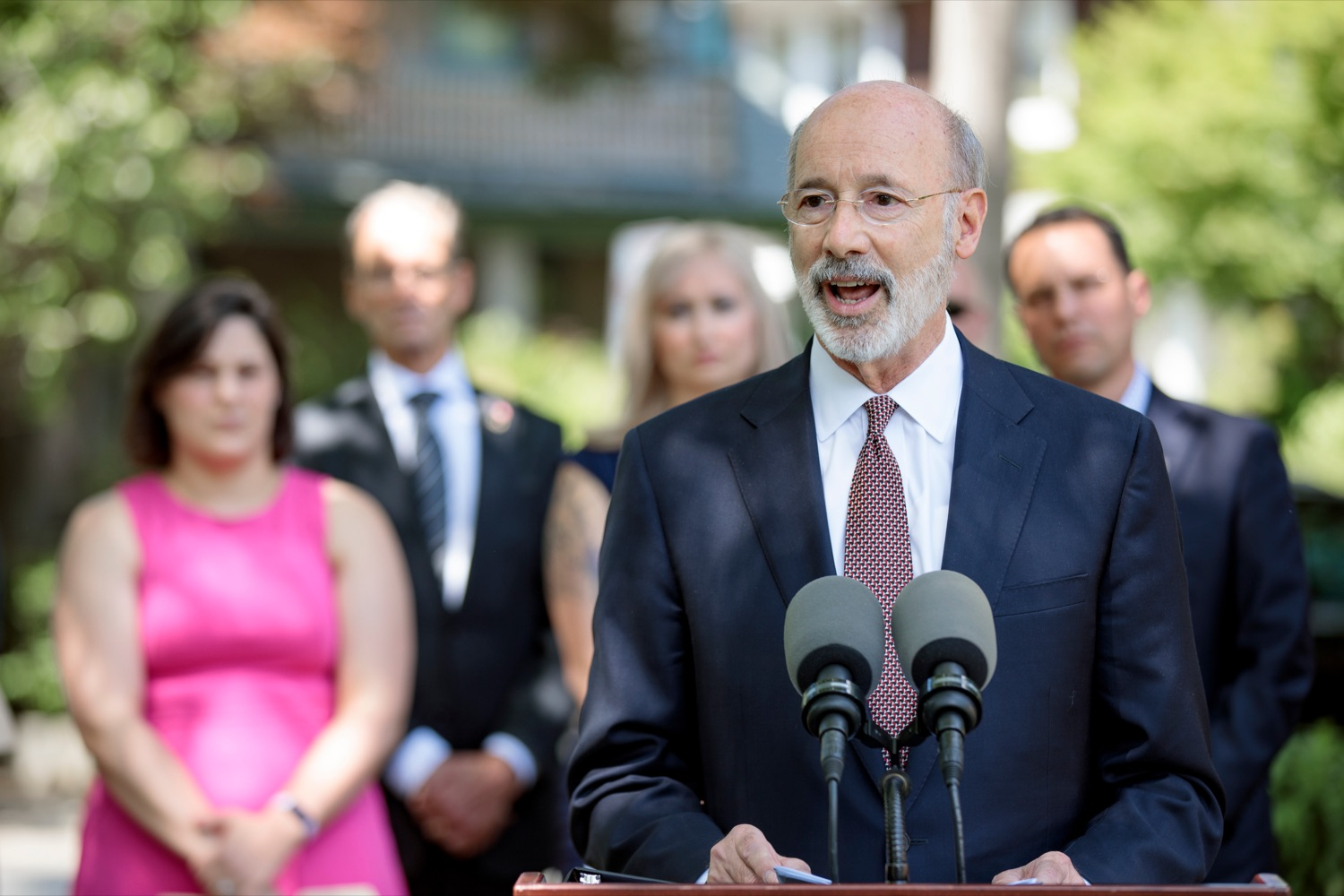 """<a href=""""https://filesource.wostreaming.net/commonwealthofpa/photo/18781_GOV_Choice_NK_014.jpg"""" target=""""_blank"""">⇣Download Photo<br></a>Gov. Tom Wolf speaks during a press conference, which discussed the damaging effects of the general assemblys proposed anti-abortion legislation and reaffirm a commitment to protecting reproductive rights, at Narberth Park on Thursday, May 27, 2021."""