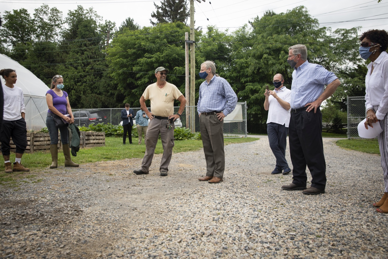 """<a href=""""https://filesource.wostreaming.net/commonwealthofpa/photo/18787_agric_urbangardens_11.jpg"""" target=""""_blank"""">⇣Download Photo<br></a>Bruce Manns, Farm Manager at York Fresh Food Farms, discusses his journey to creating an urban farm, in York, PA on July 3, 2021."""
