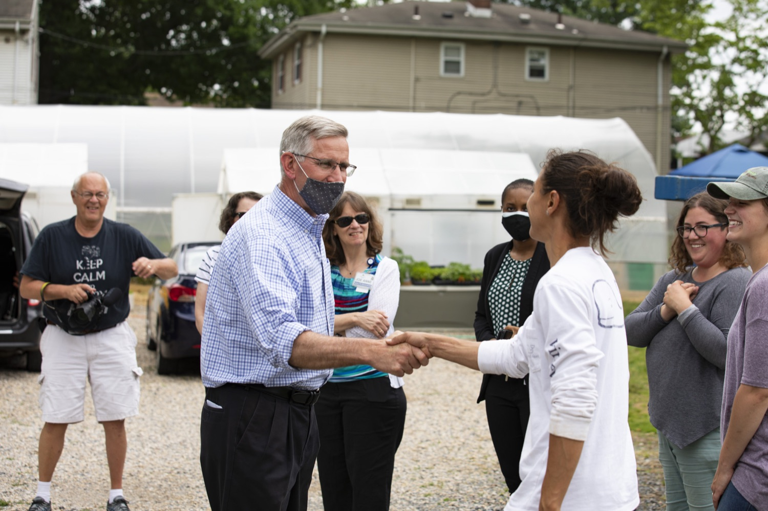 """<a href=""""https://filesource.wostreaming.net/commonwealthofpa/photo/18787_agric_urbangardens_14.jpg"""" target=""""_blank"""">⇣Download Photo<br></a>Secretary of Agriculture Russell Redding tours York Fresh Food Farms, one of many urban spaces in Pennsylvania seeking to stomp out food insecurity, June 3, 2021."""