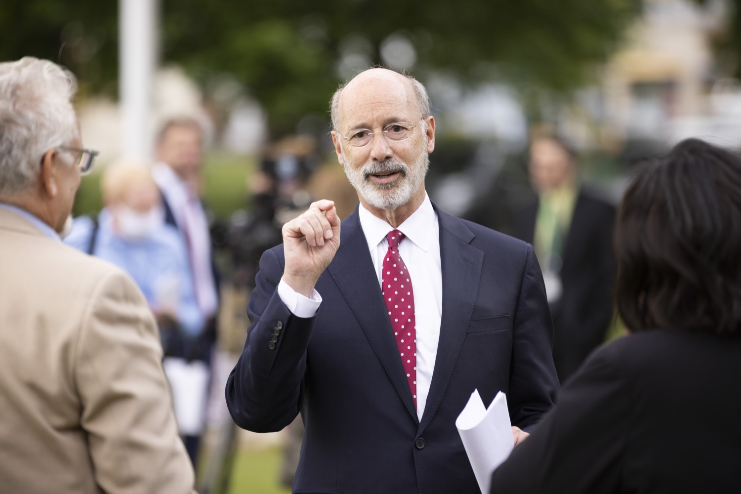"""<a href=""""https://filesource.wostreaming.net/commonwealthofpa/photo/18796_gov_charterSchool_dz_011.jpg"""" target=""""_blank"""">⇣Download Photo<br></a>Pennsylvania Governor Tom Wolf speaking with school administrators.  With overwhelming support among school districts for his charter school accountability plan, Governor Tom Wolf visited J.P. McCaskey High School in Lancaster today to discuss his bipartisan proposal that saves an estimated $395 million a year. Lancaster, PA  June 01, 2021"""
