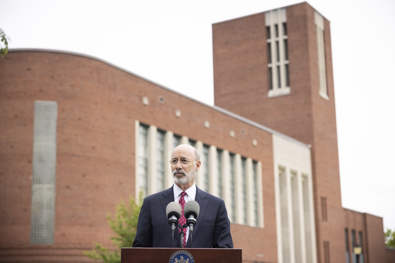 """<a href=""""https://filesource.wostreaming.net/commonwealthofpa/photo/18796_gov_charterSchool_dz_020.jpg"""" target=""""_blank"""">⇣Download Photo<br></a>Pennsylvania Governor Tom Wolf speaking with the press.  With overwhelming support among school districts for his charter school accountability plan, Governor Tom Wolf visited J.P. McCaskey High School in Lancaster today to discuss his bipartisan proposal that saves an estimated $395 million a year. Lancaster, PA  June 01, 2021"""