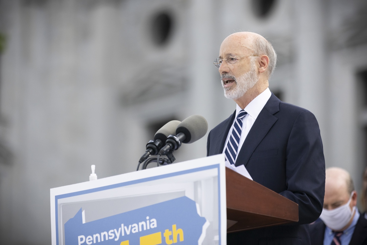 """<a href=""""https://filesource.wostreaming.net/commonwealthofpa/photo/18810_gov_fairFunding_dz_003.jpg"""" target=""""_blank"""">⇣Download Photo<br></a>Pennsylvania Governor Tom Wolf speaking with the press.  Continuing their commitment to students and working families, Governor Tom Wolf and House and Senate Democratic Leaders held a Capitol press conference today to highlight the injustice in the states school funding system and call for fair funding of every district.  Harrisburg, PA   June 8, 2021"""