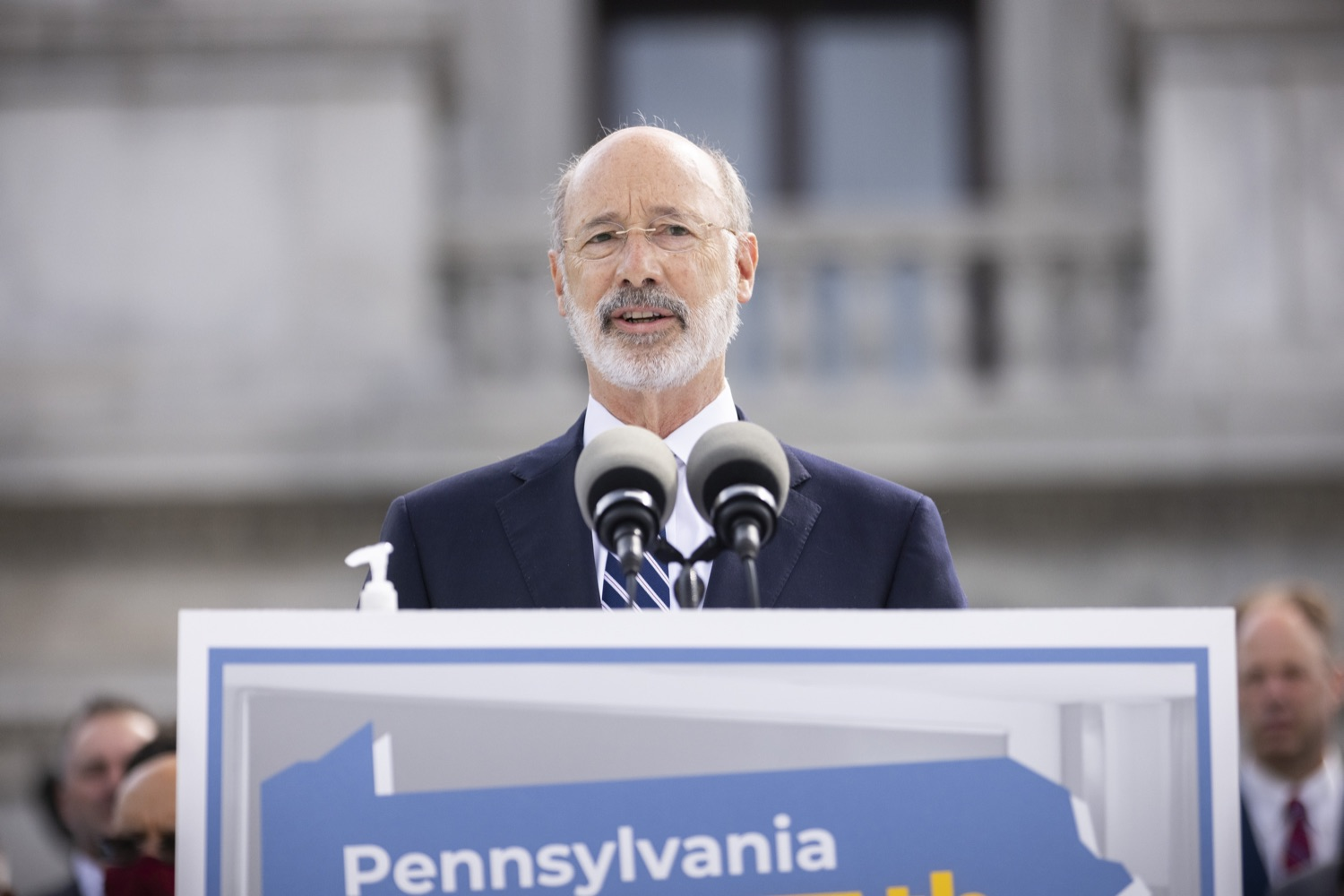 """<a href=""""https://filesource.wostreaming.net/commonwealthofpa/photo/18810_gov_fairFunding_dz_010.jpg"""" target=""""_blank"""">⇣Download Photo<br></a>Pennsylvania Governor Tom Wolf speaking with the press.  Continuing their commitment to students and working families, Governor Tom Wolf and House and Senate Democratic Leaders held a Capitol press conference today to highlight the injustice in the states school funding system and call for fair funding of every district.  Harrisburg, PA   June 8, 2021"""