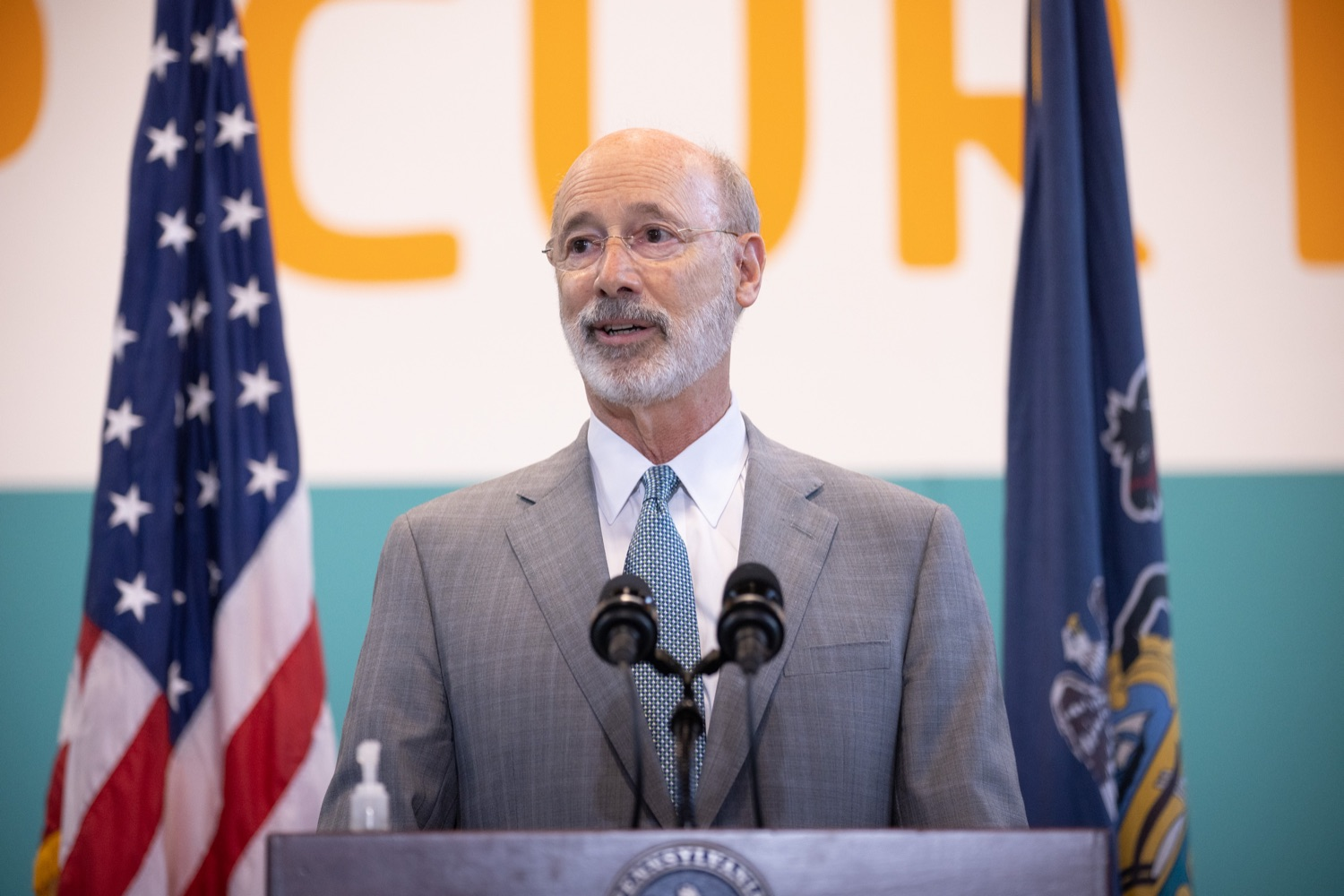 """<a href=""""https://filesource.wostreaming.net/commonwealthofpa/photo/18815_gov_voterRights_dz_003.jpg"""" target=""""_blank"""">⇣Download Photo<br></a>Pennsylvania Governor Tom Wolf speaking with the press.  With some politicians spreading lies about our elections to divide us, Governor Tom Wolf today vowed to protect the freedom to vote and oppose legislation that would create barriers to voting and silence the voices of some Pennsylvanians. These are the same lies that led directly to the appalling assault on our U.S. Capitol and our democracy on January 6, and now, just a few short months later, the same people who fomented, encouraged, and joined that mob are again emerging to undermine the fabric of our nation.   Harrisburg, PA  June 9, 2021"""