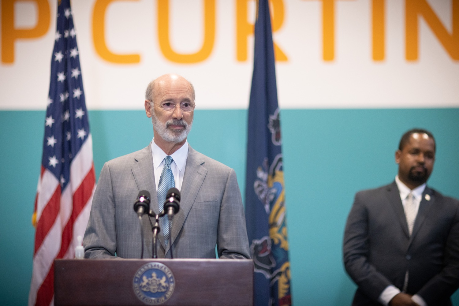 """<a href=""""https://filesource.wostreaming.net/commonwealthofpa/photo/18815_gov_voterRights_dz_008.jpg"""" target=""""_blank"""">⇣Download Photo<br></a>Pennsylvania Governor Tom Wolf speaking with the press.  With some politicians spreading lies about our elections to divide us, Governor Tom Wolf today vowed to protect the freedom to vote and oppose legislation that would create barriers to voting and silence the voices of some Pennsylvanians. These are the same lies that led directly to the appalling assault on our U.S. Capitol and our democracy on January 6, and now, just a few short months later, the same people who fomented, encouraged, and joined that mob are again emerging to undermine the fabric of our nation.   Harrisburg, PA  June 9, 2021"""